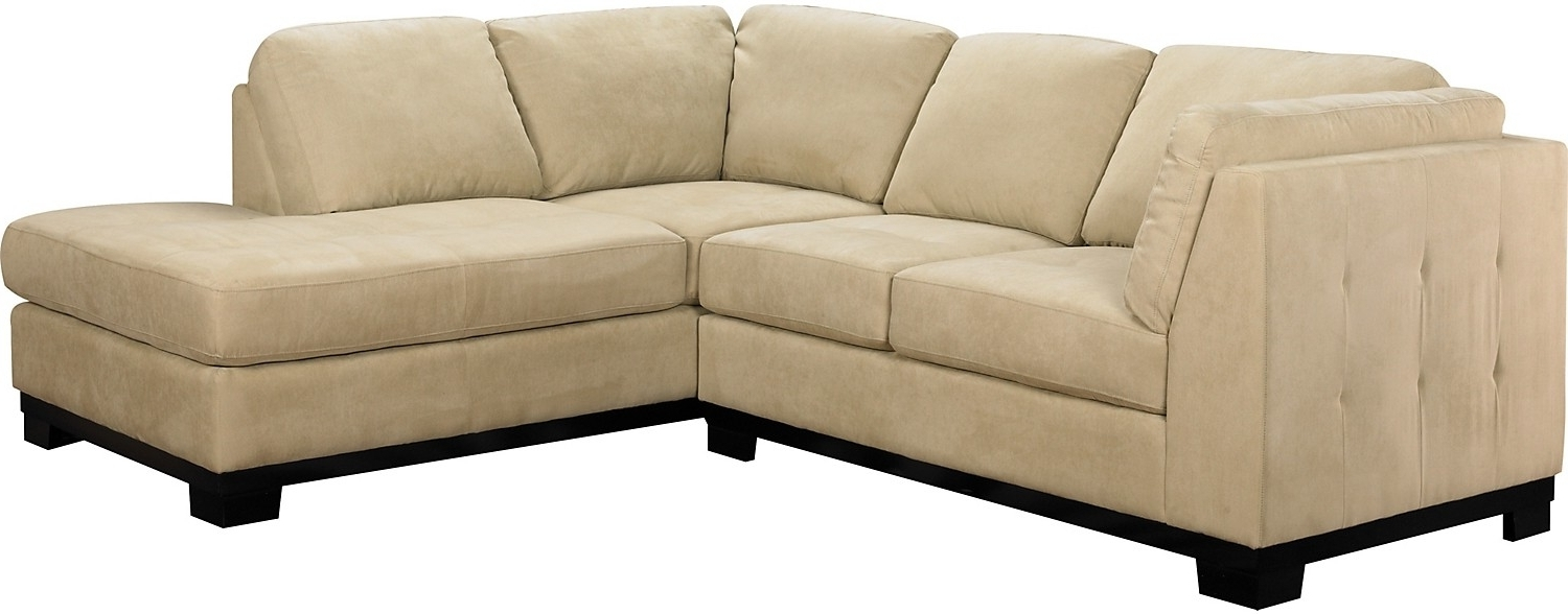 Latest Sectional Sofas At Brick In Oakdale 2 Piece Microsuede Sectional W/right Facing Chaise (View 9 of 20)