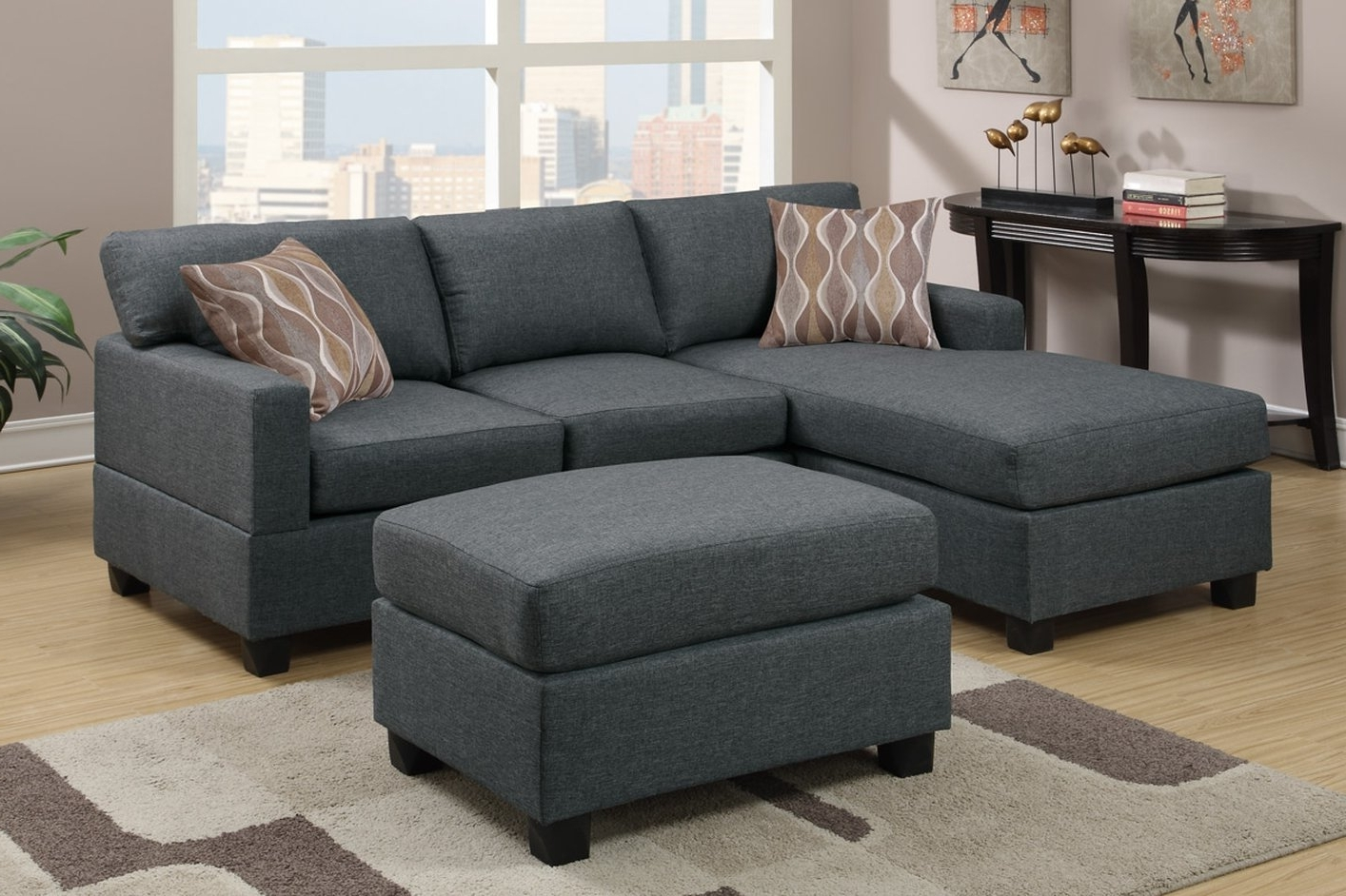 Latest Sofas With Ottoman With Regard To Sectional Sofa Design: Best Sectional Sofas With Ottoman Design (View 8 of 20)
