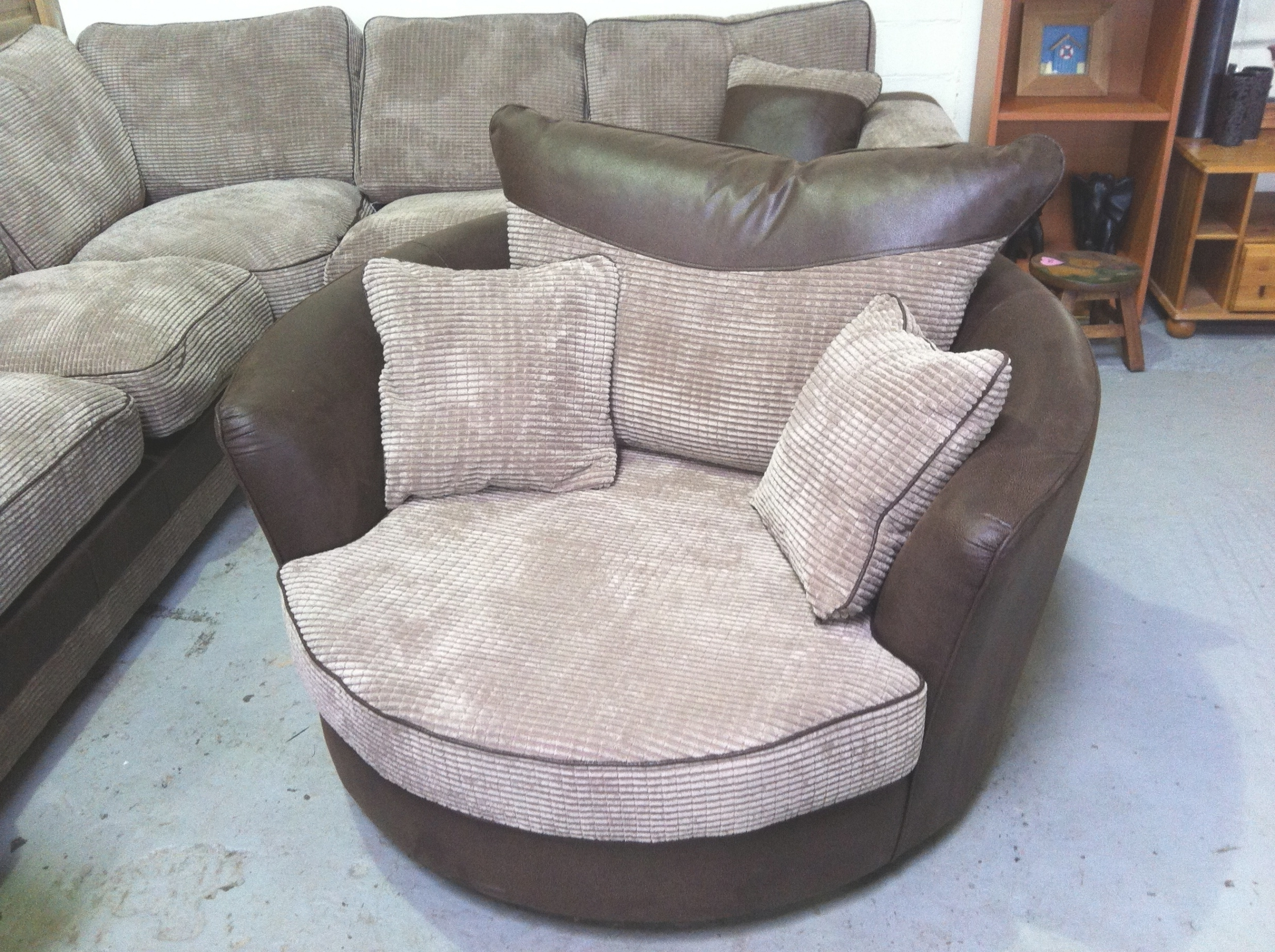 Latest Swivel Sofa Chairs Intended For Sofas Leather Chair Loveseat