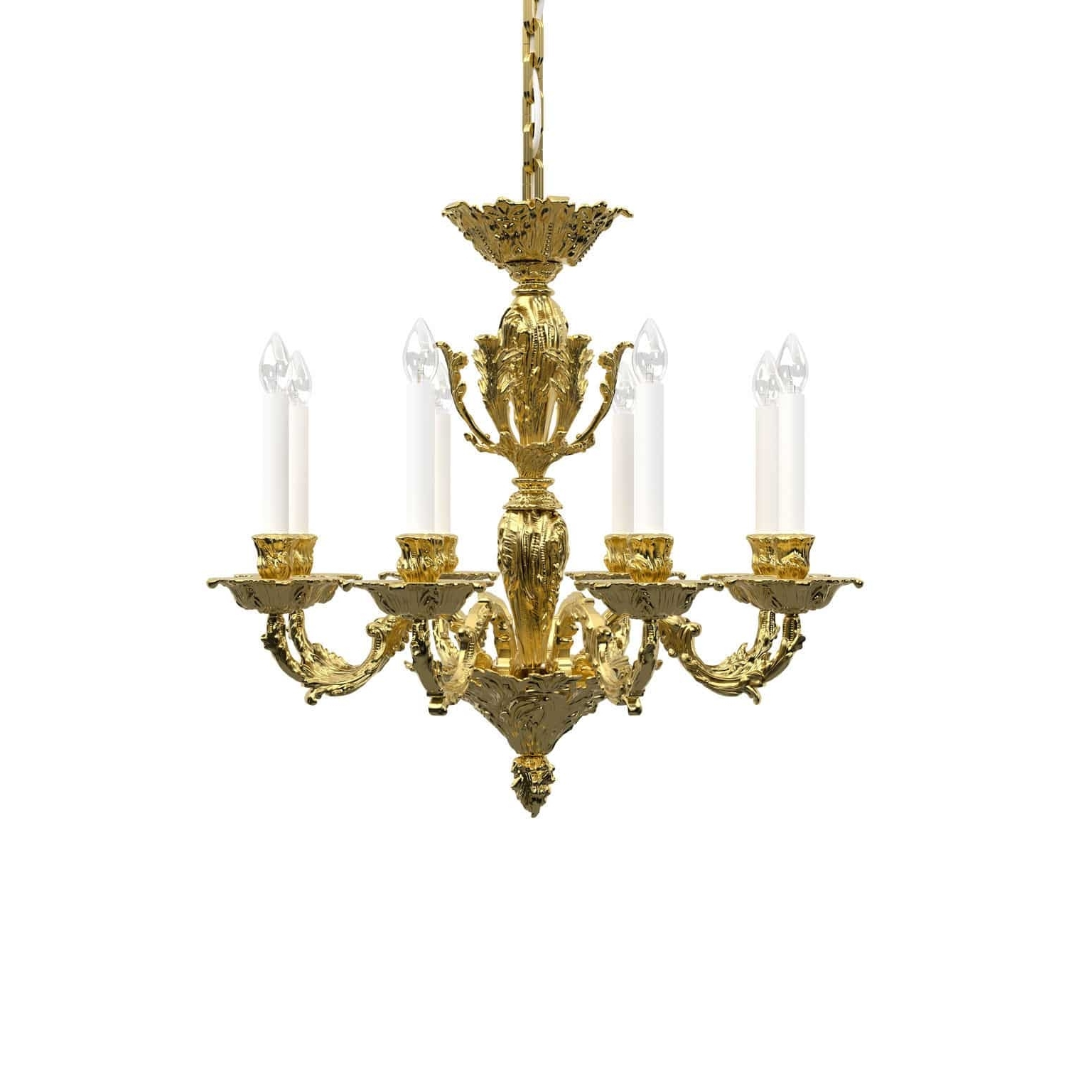 Latest Traditional Chandelier With Traditional Chandelier / Brass / Nickel – Louis : Historic Design (View 14 of 20)