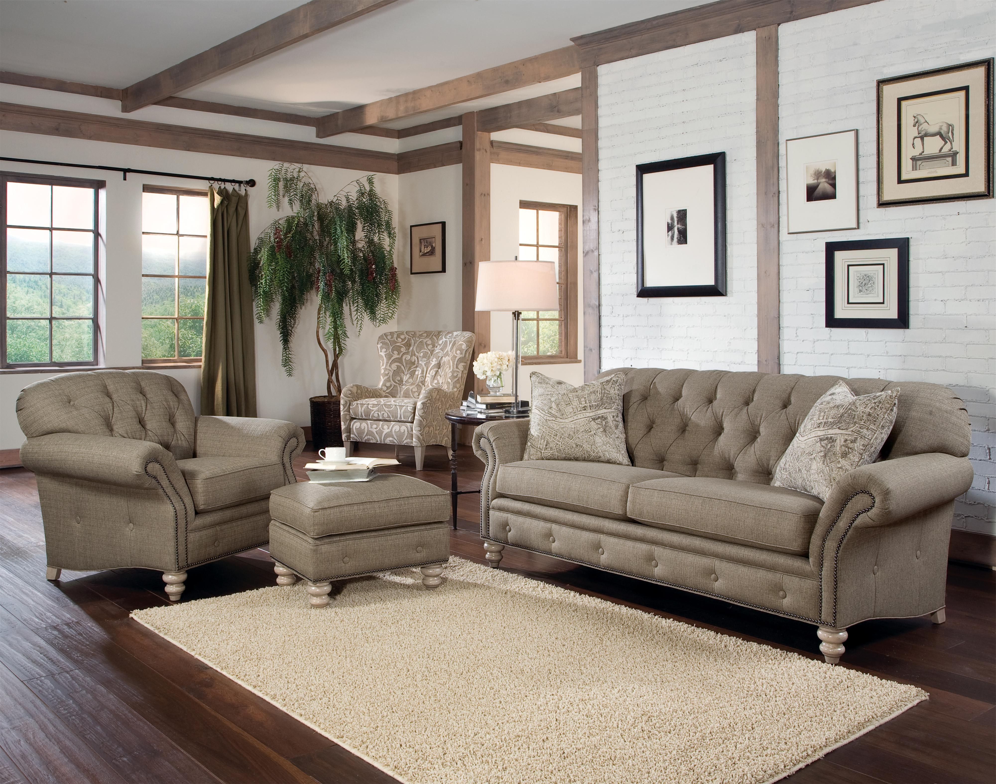 Latest Traditional Sofas And Chairs Throughout Smith Brothers 396 Sofa Priced In Grade 20 (not As Shown (View 13 of 20)