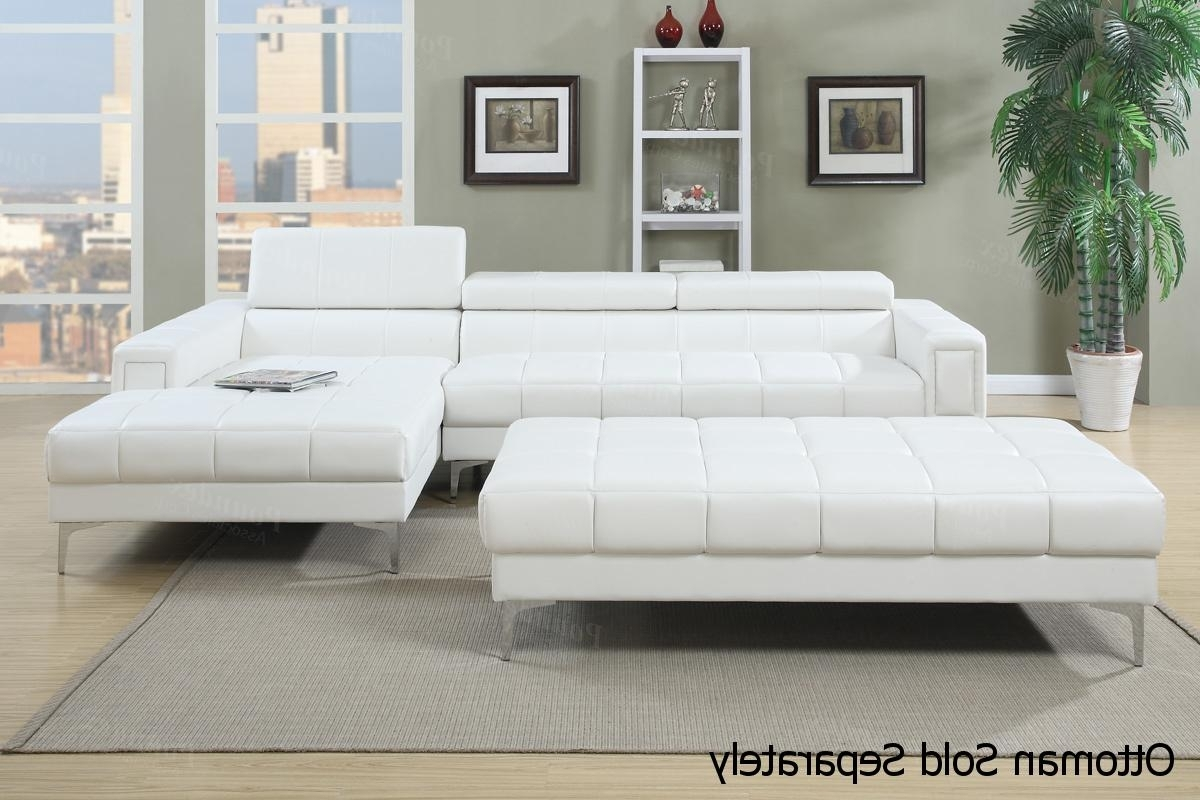 Latest Tufted Sectional Sofas With Chaise With Regard To White Leather Sectional Sofa – Steal A Sofa Furniture Outlet Los (View 2 of 20)