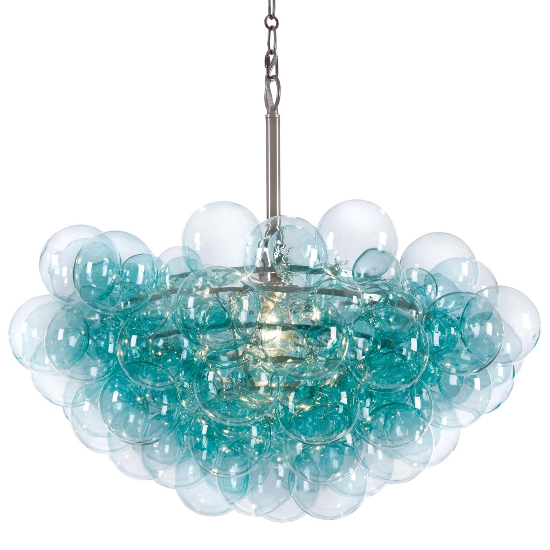 Latest Turquoise Beads Six Light Chandeliers With Regina Andrew Aqua Bubbles Chandelier @zinc Door ( For Over Dining (View 20 of 20)