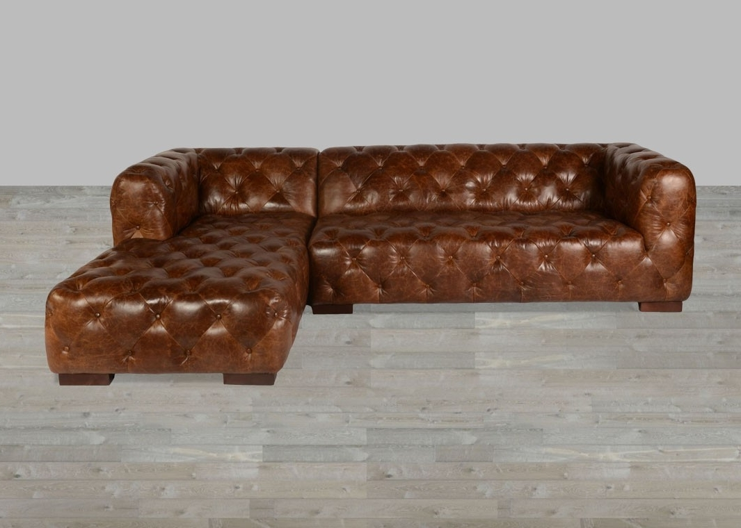 Latest Vintage Sectional Sofas Intended For Coco Brompton Leather Vintage Sectional (View 5 of 20)