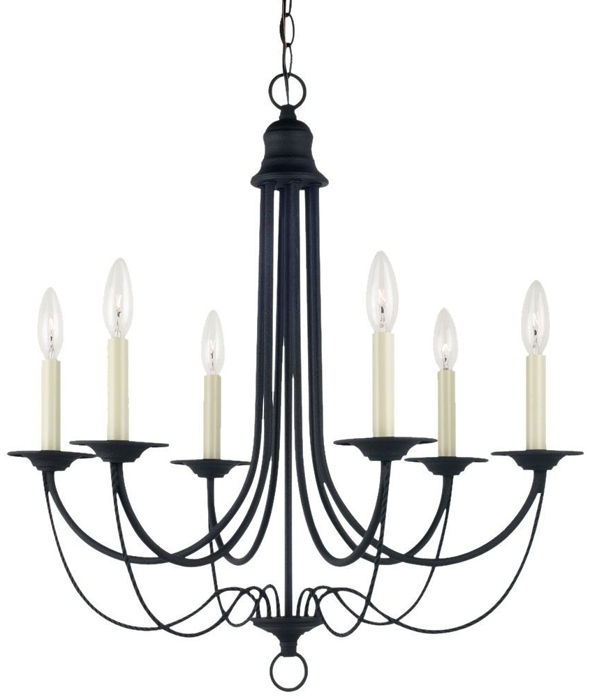 Latest Vintage Style Black Chandelier > $ (View 9 of 20)