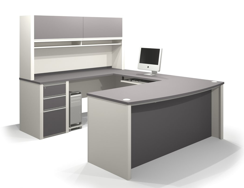 Latitude Run Karla 2 Piece U Shaped Desk Office Suite & Reviews With Regard To Preferred U Shaped Computer Desks (View 13 of 20)