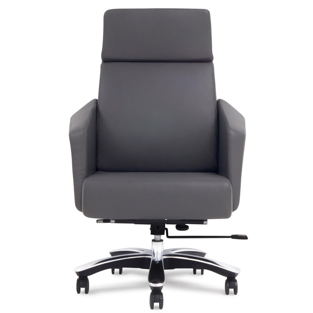 Lauren Genuine Leather Aluminum Base High Back Executive Chair In 2019 Black Executive Office Chairs (View 9 of 20)
