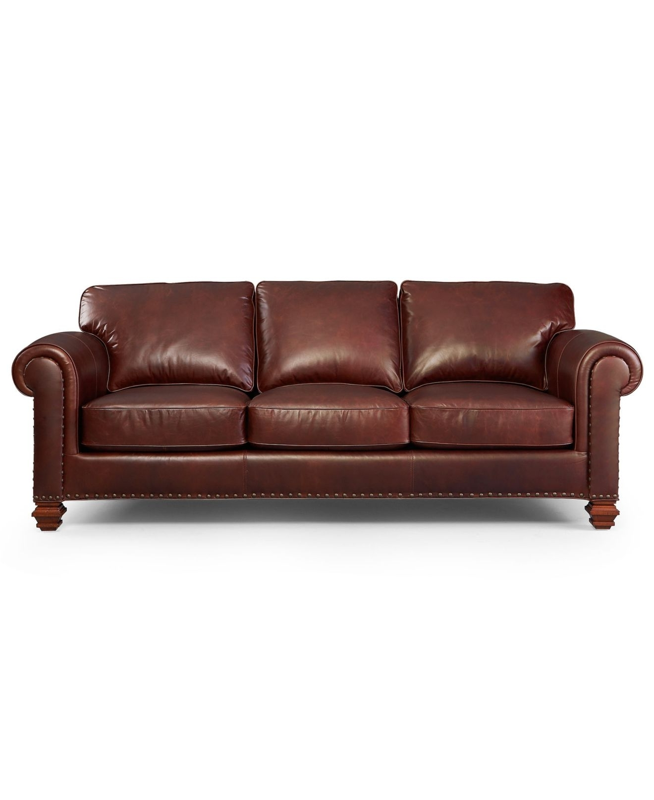 Lauren Ralph Lauren Leather Sofa, Stanmore – Living Room Furniture For Recent Macys Leather Sofas (View 12 of 20)