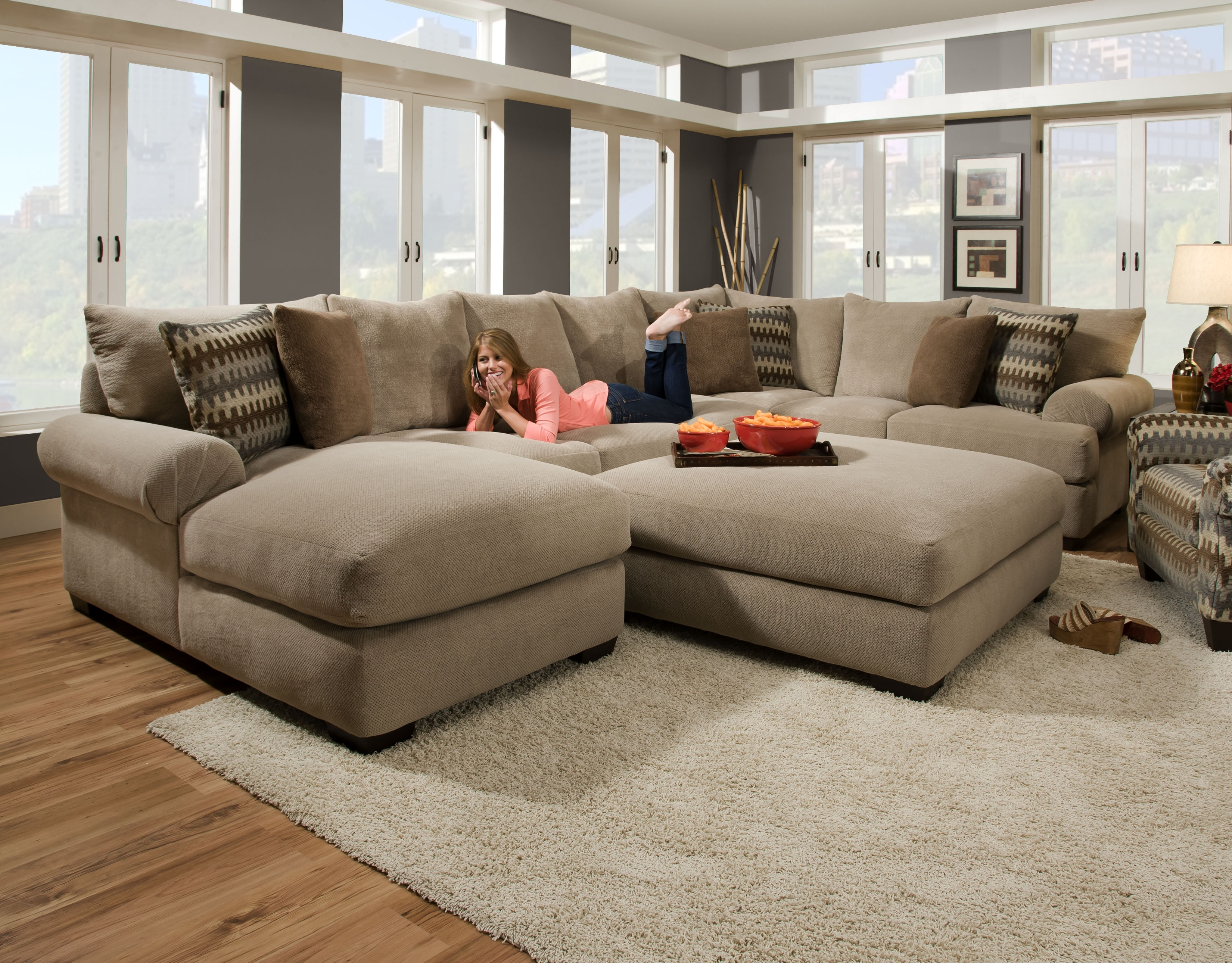 Layaway Sectional Sofas With Well Known Bocha Stone 3Pc (View 15 of 20)