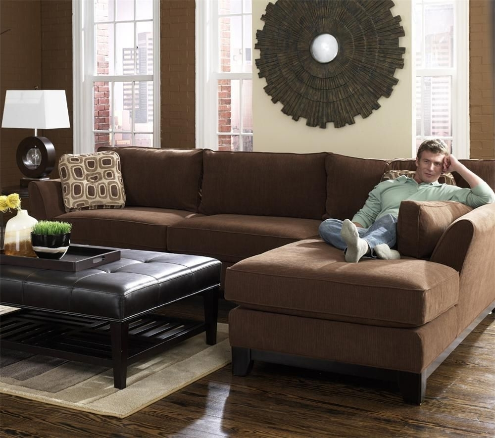 Lazy Boy Sectional Sofas With 2018 Modern Brown 2 Piece Lazy Boy Sectional With Chaise (View 15 of 20)