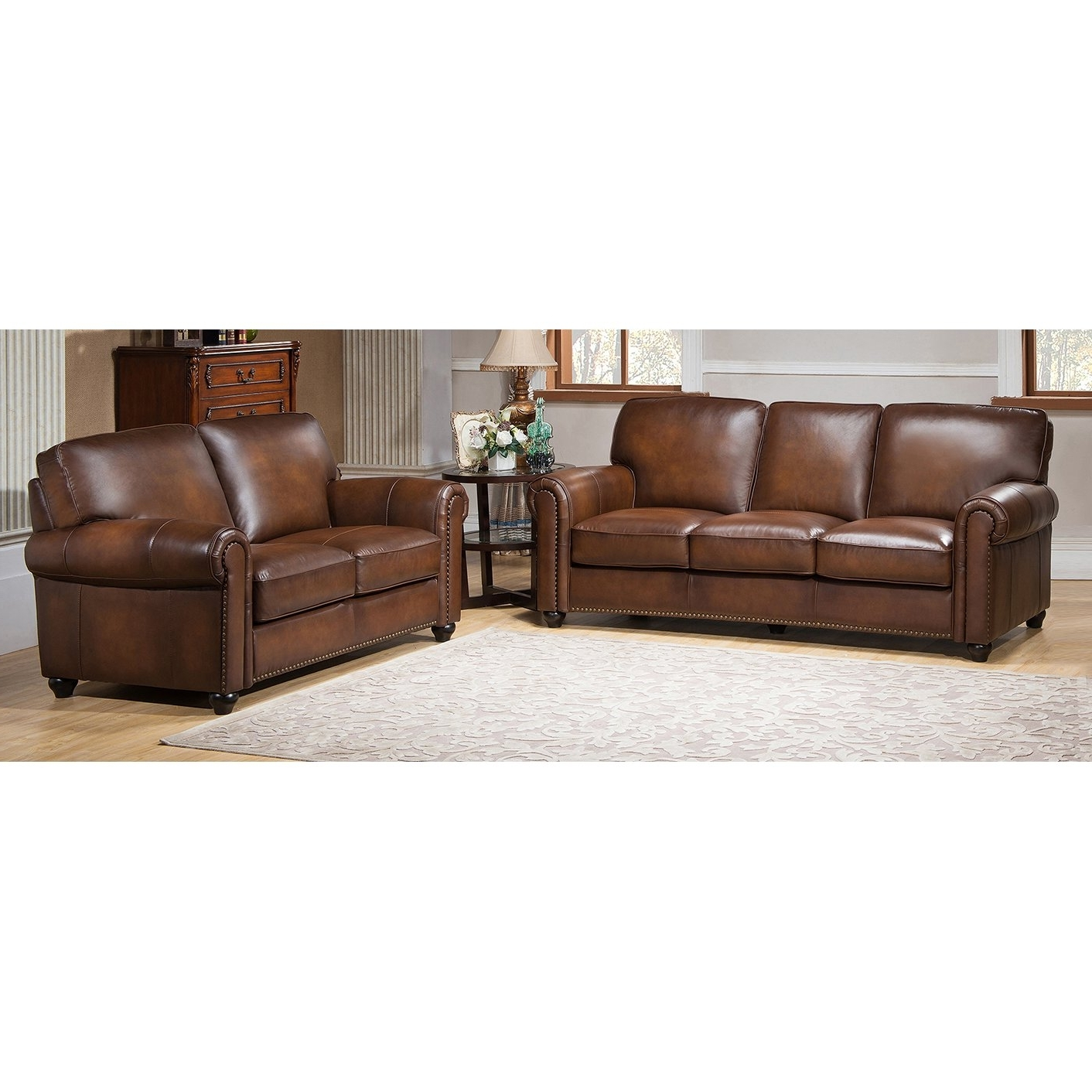 Lazyboy Sectional Prices Abbyson Montgomery Leather Reversible With Regard To Most Popular Sectional Sofas At Sam's Club (View 5 of 20)