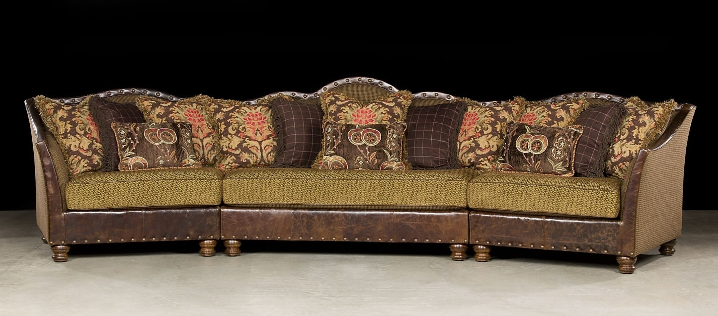 Leather And Cloth Sectional Sofas (View 17 of 20)