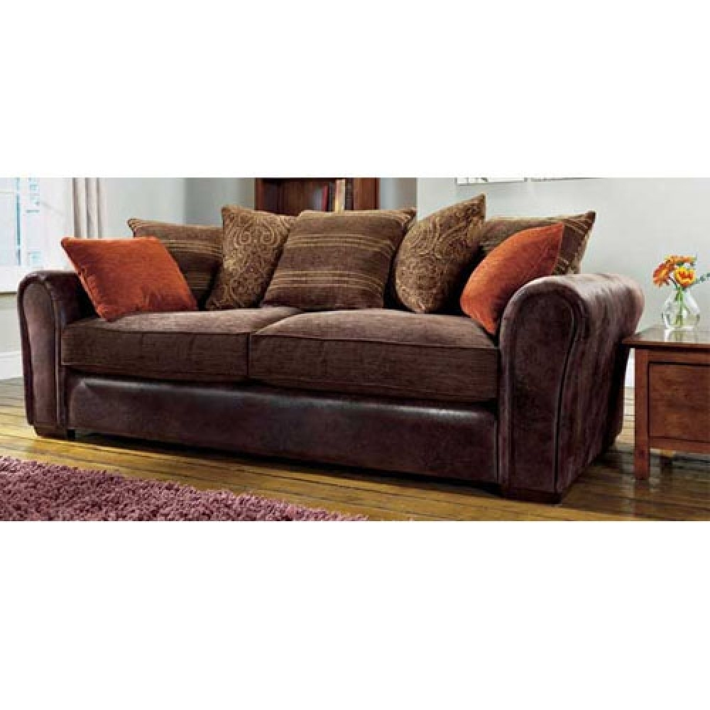 Best 20 Of Leather And Cloth Sofas