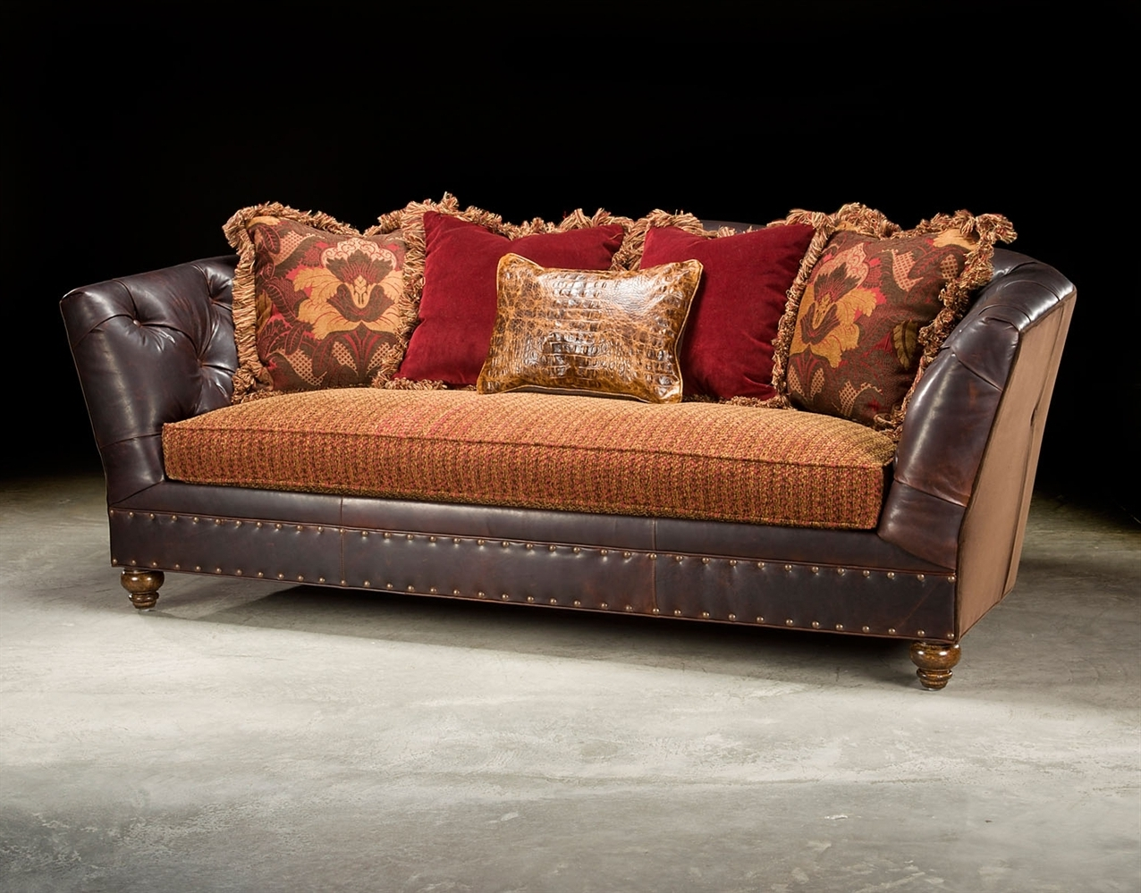 Leather And Cloth Sofas Throughout Most Up To Date Sofa (View 5 of 20)