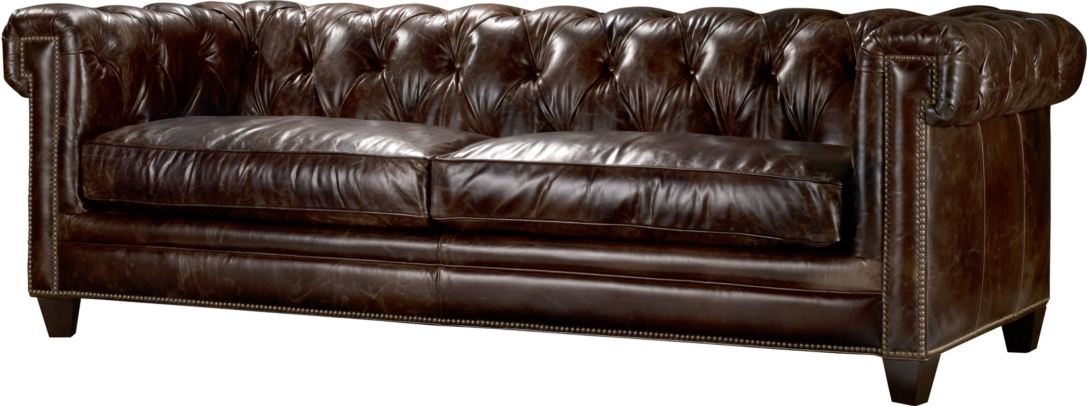 Leather Chesterfield Sofas Regarding Most Current Hooker Furniture Imperial Regal Stationary Leather Chesterfield (View 4 of 20)