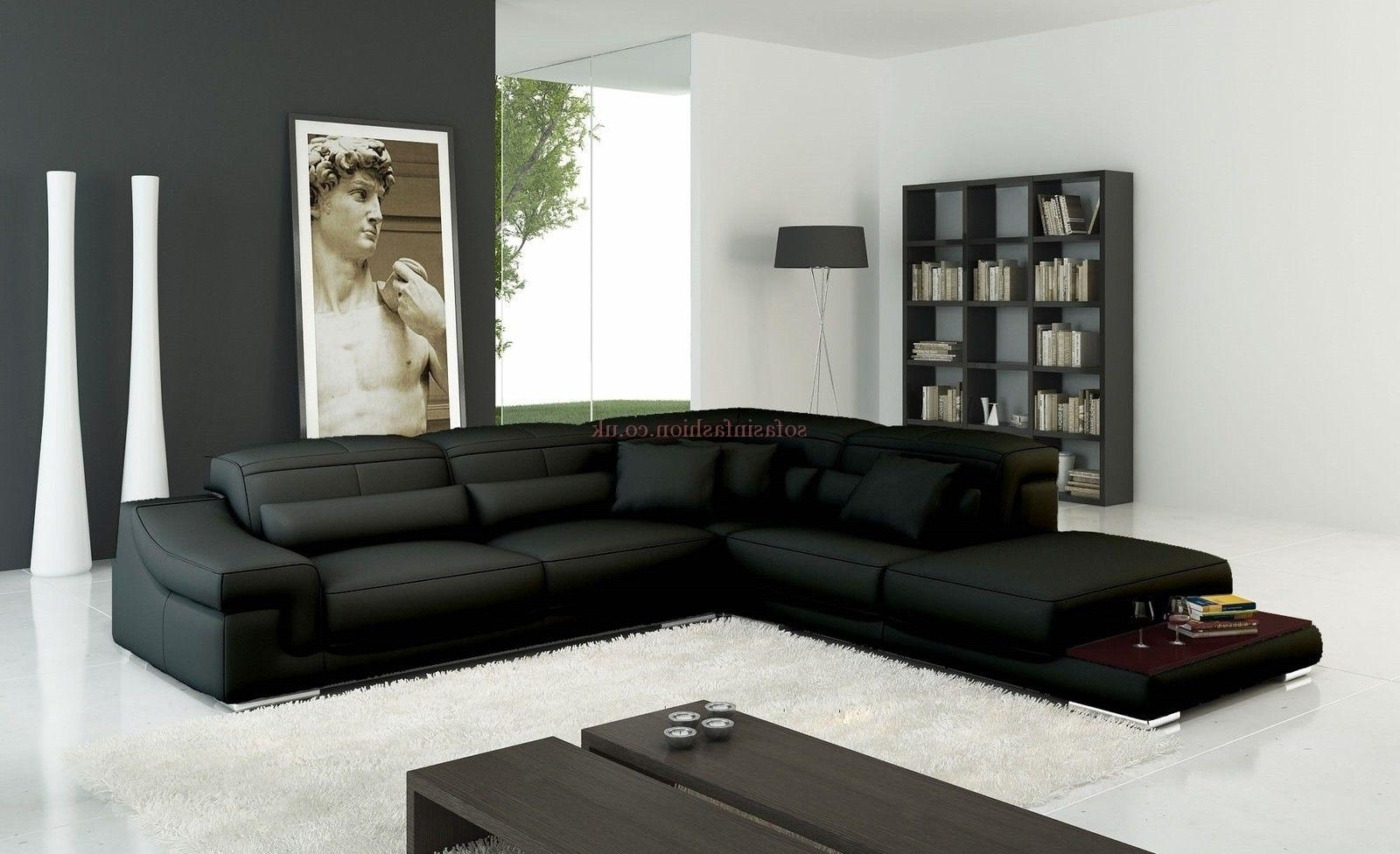 Leather Corner Sofas Inside Preferred Incredible Modern Leather Corner Sofas – Buildsimplehome (Gallery 9 of 20)