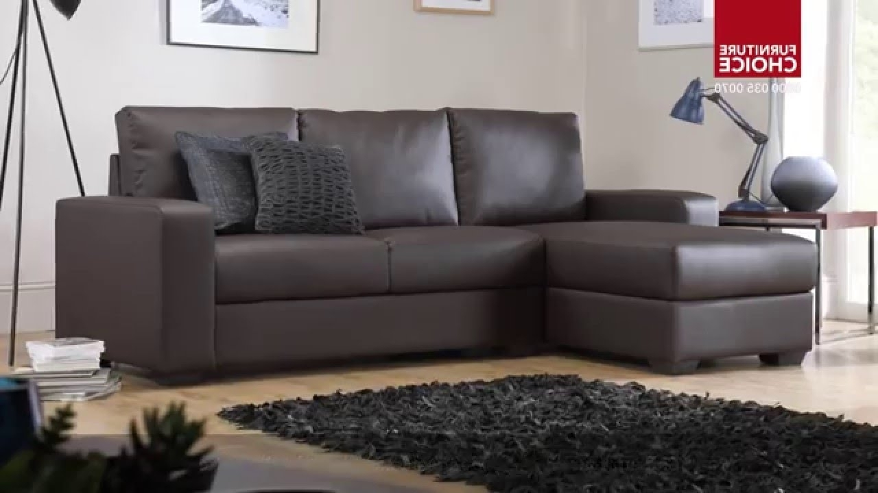 Leather Corner Sofas Intended For Well Known Oslo Storage Leather Corner Sofasfurniture Choice – Youtube (View 7 of 20)