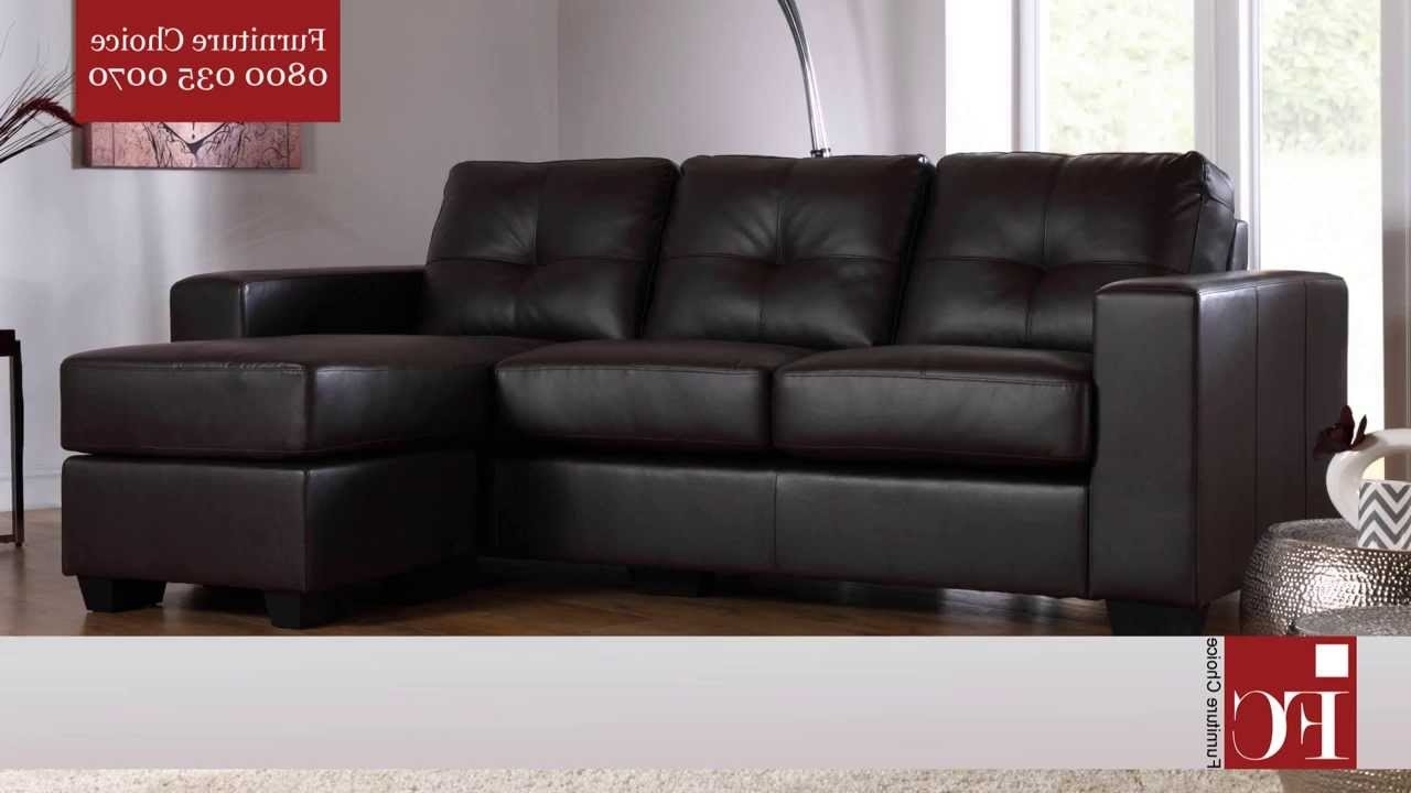 Leather Corner Sofas Intended For Well Liked Rio Leather Corner Sofas From Furniture Choice – Youtube (View 11 of 20)