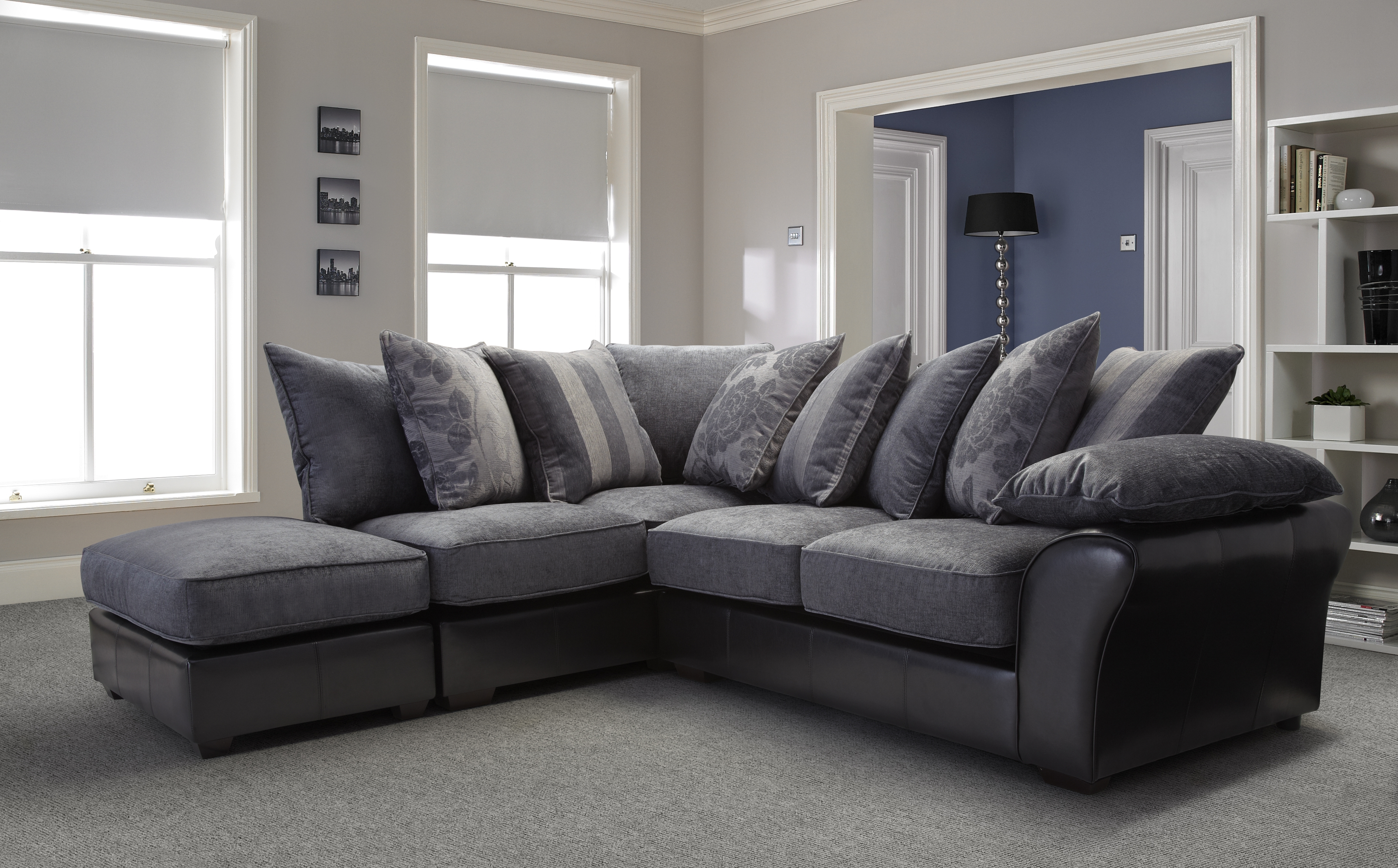Leather Corner Sofas Regarding Most Recently Released Furniture: Breathtaking Corner Sofas Decorating Ideas Leather (View 8 of 20)