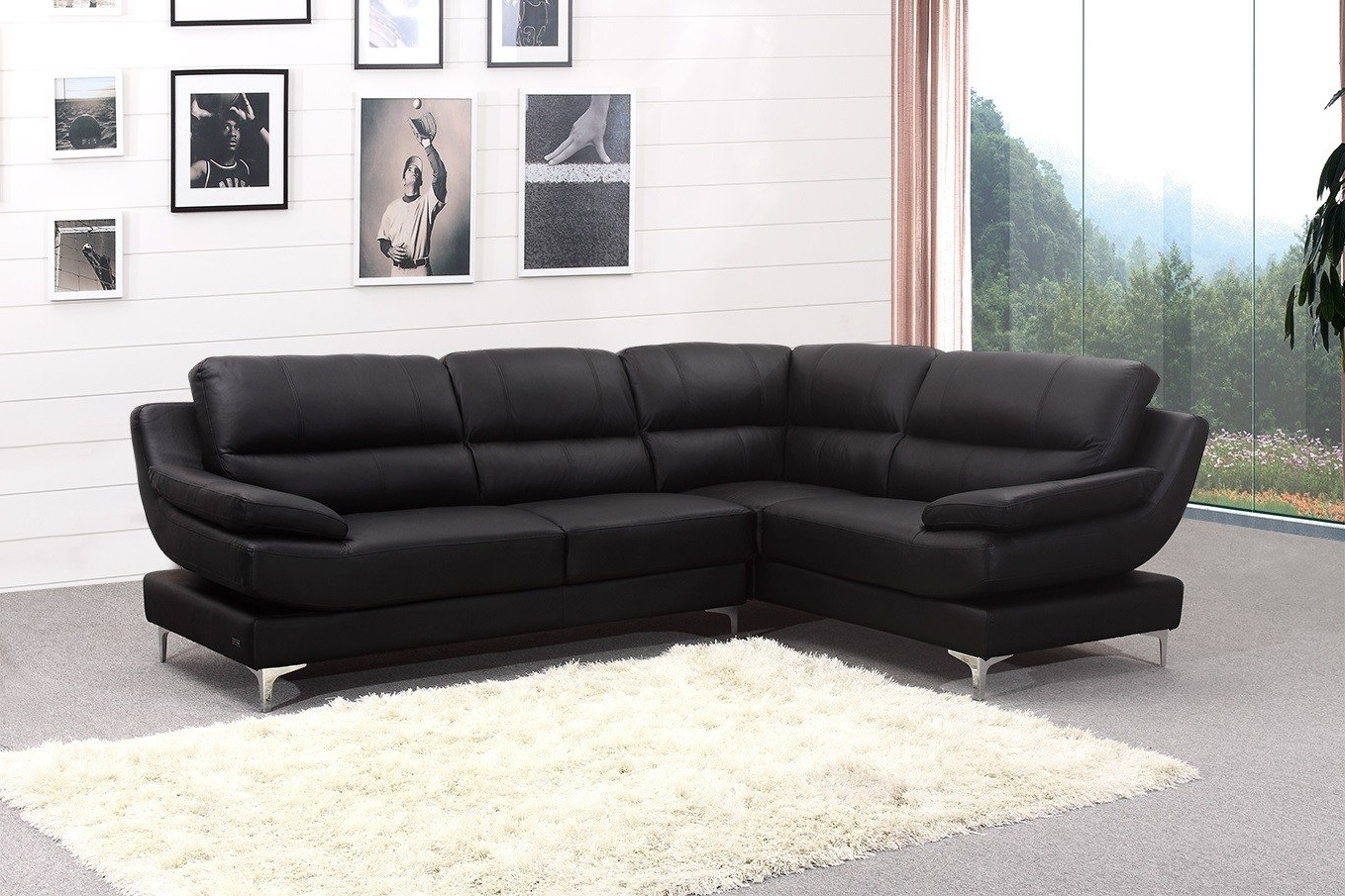 Leather Corner Sofas Within Well Known New Ideas Leather Corner Sofas With Corner Sofa Leather Brown (View 13 of 20)
