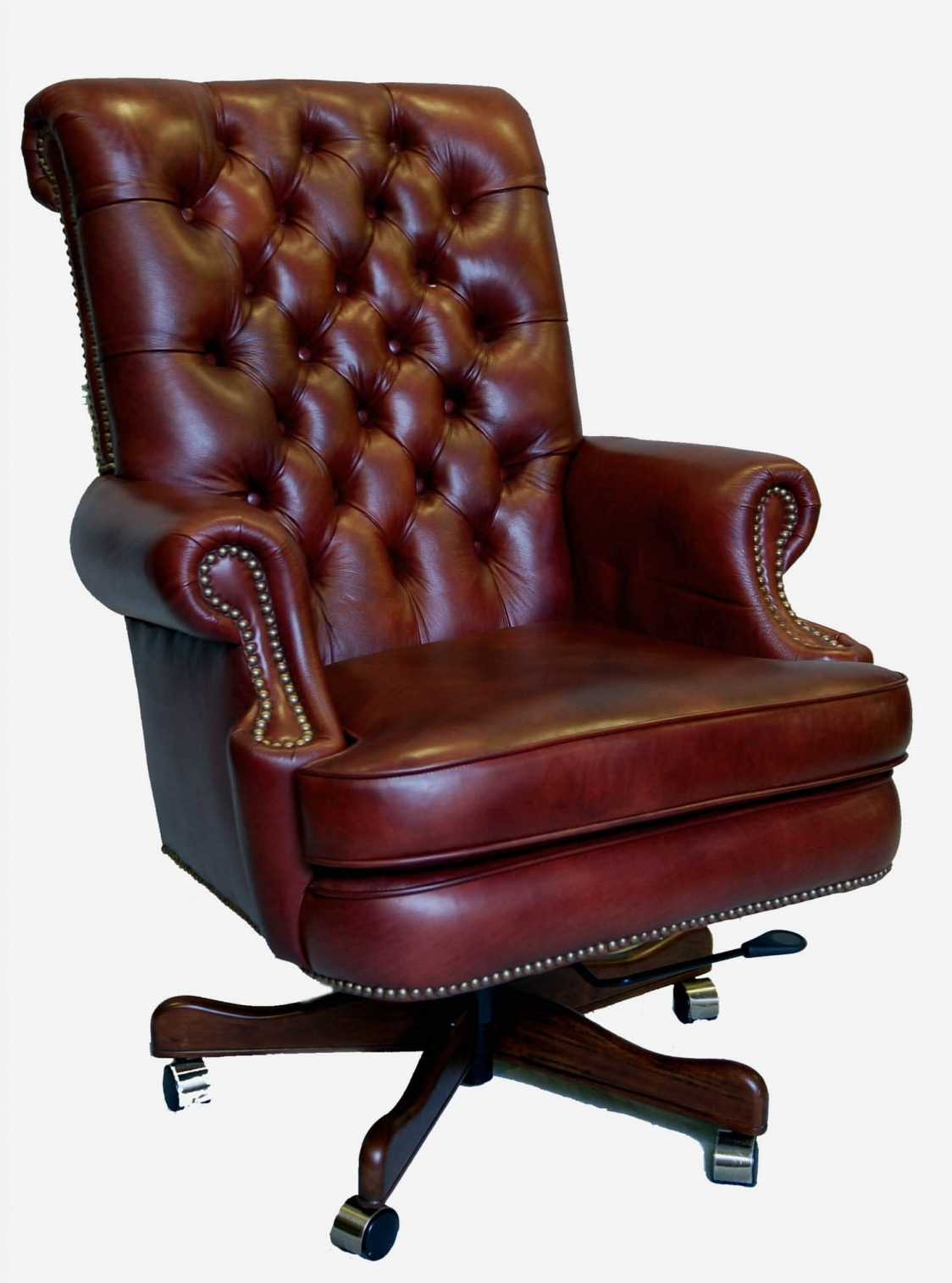 Leather Executive Office Chairs For Most Popular Brown Leather Executive Office Chair – Space Saving Desk Ideas (View 3 of 20)