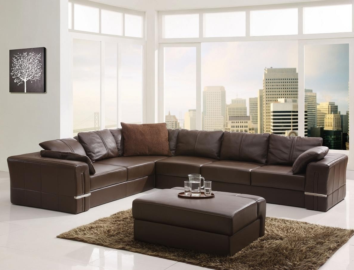 Leather L Shaped Sectional Sofas Intended For Most Popular Living Room (View 10 of 20)