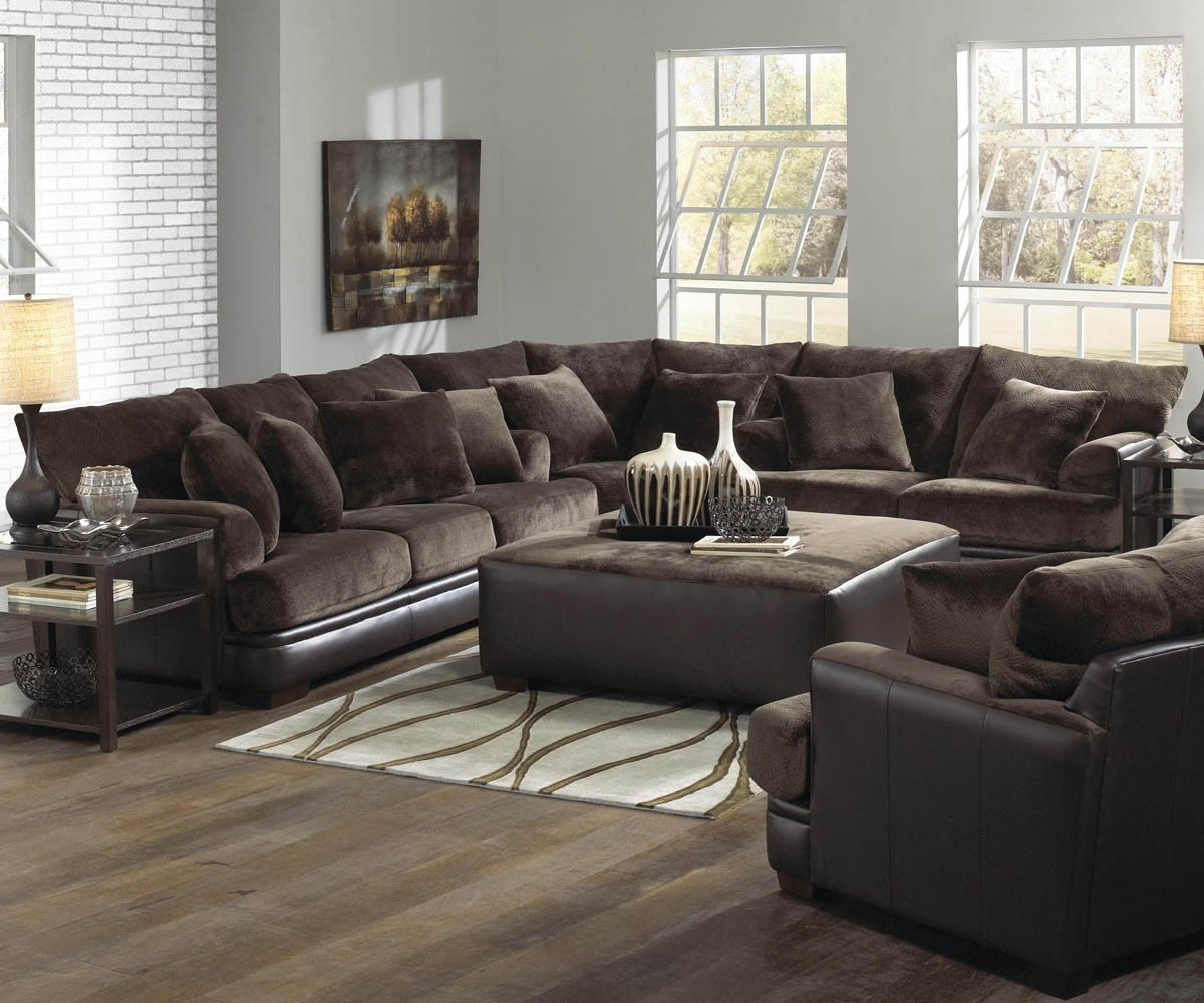 Leather L Shaped Sectional Sofas Within Well Known Living Room Modern Living Room Design With Brown L Shaped (View 13 of 20)