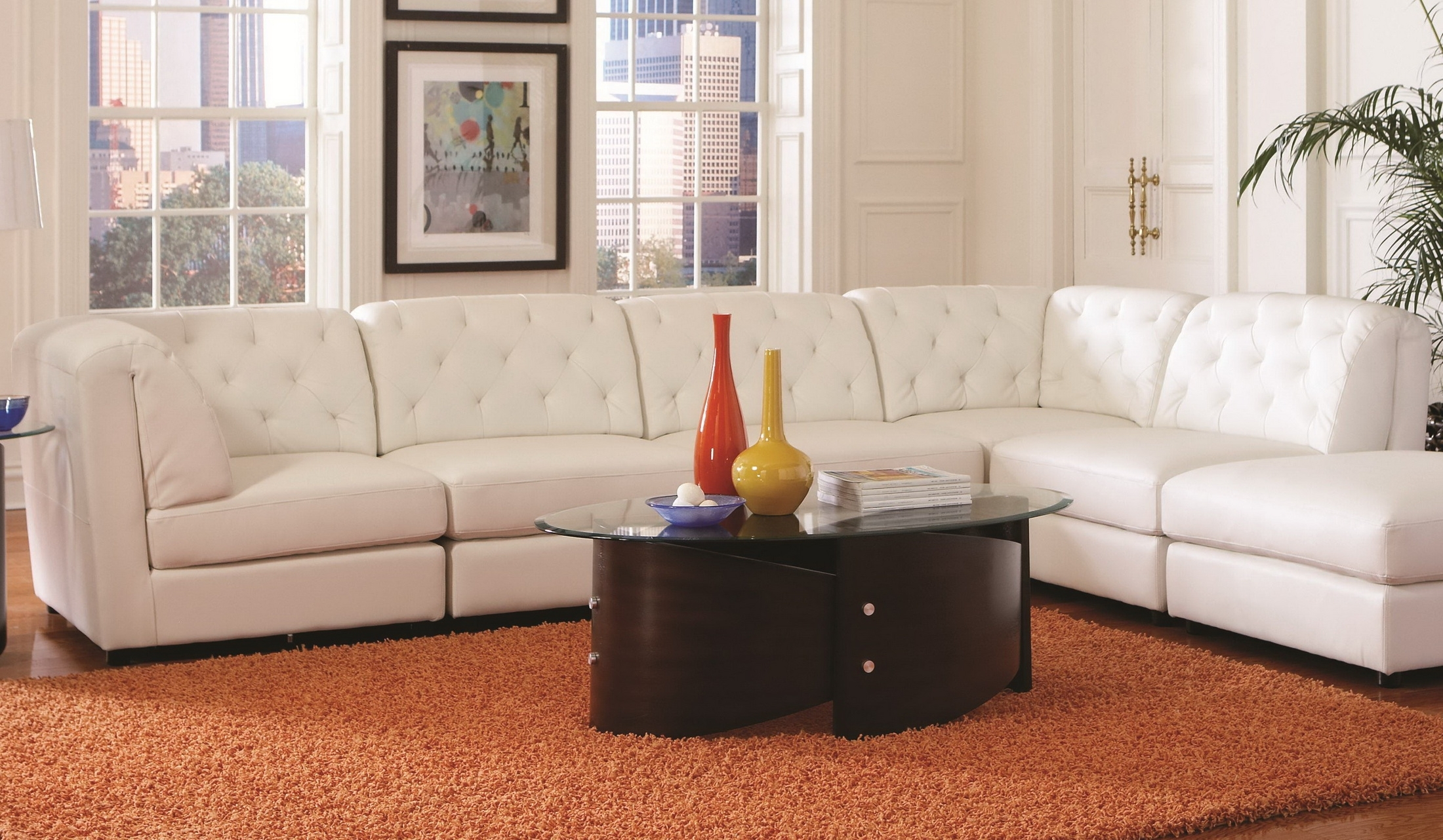 Featured Photo of Leather Modular Sectional Sofas