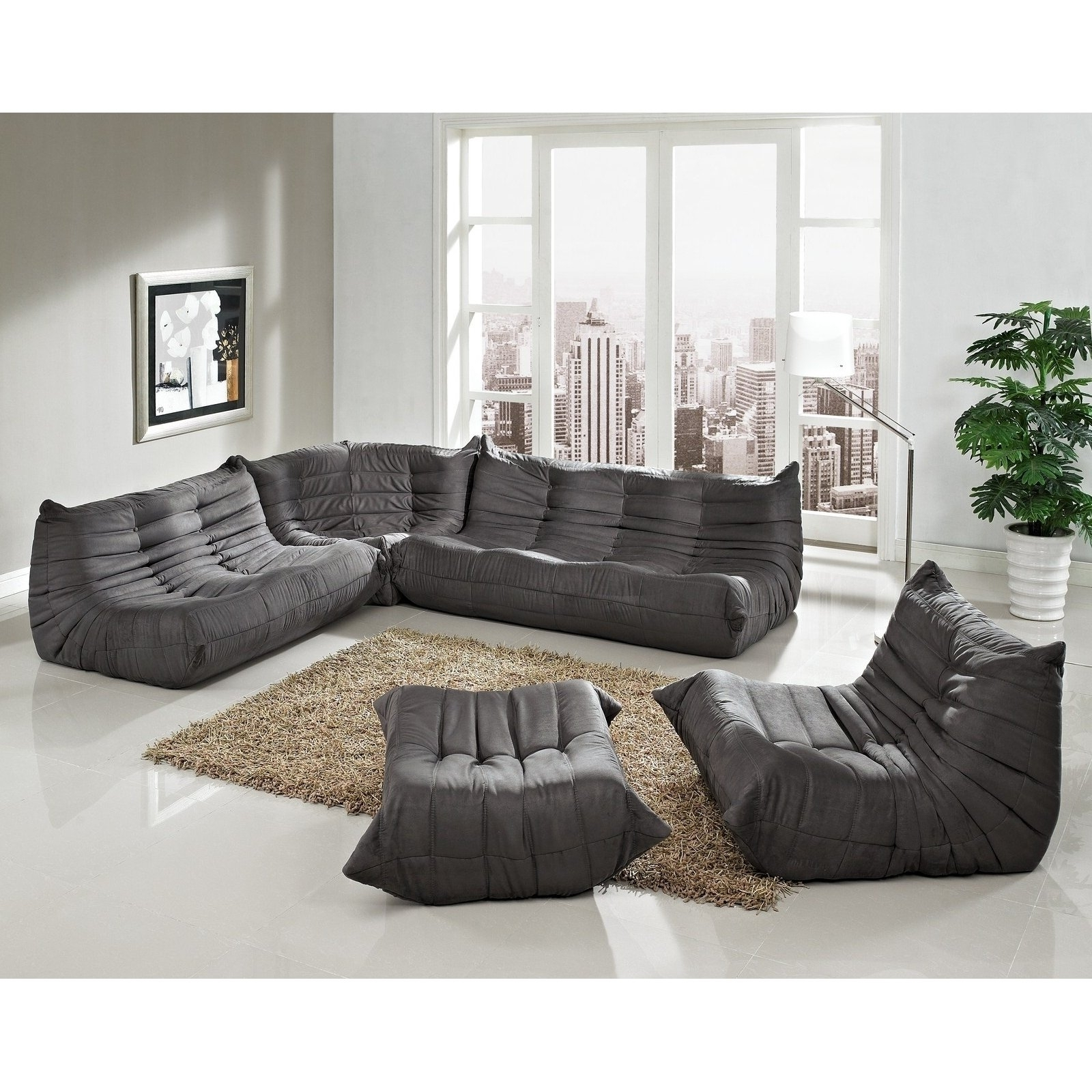 Leather Modular Sectional Sofas Regarding Well Known Living Room : Furniture Living Room Sectional Sofa Modern And (View 7 of 20)