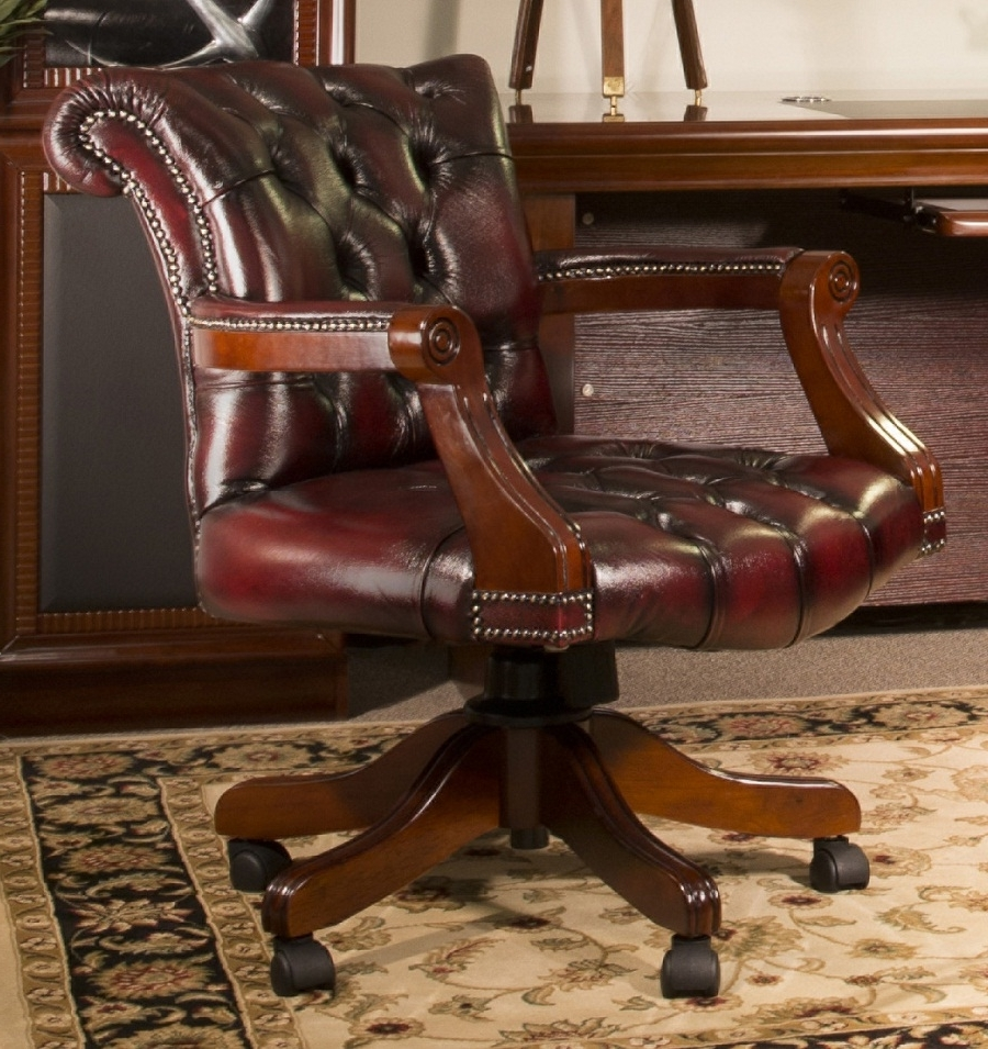 Leather Office Chair Amazon — Montserrat Home Design : Ask When Throughout 2019 Traditional Executive Office Chairs (View 6 of 20)