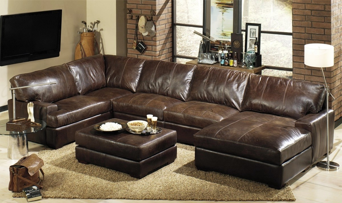 Leather Sectional Sofas For Popular Beautiful Leather Sectional Sofa With Chaise 25 For Modern Sofa (View 7 of 20)
