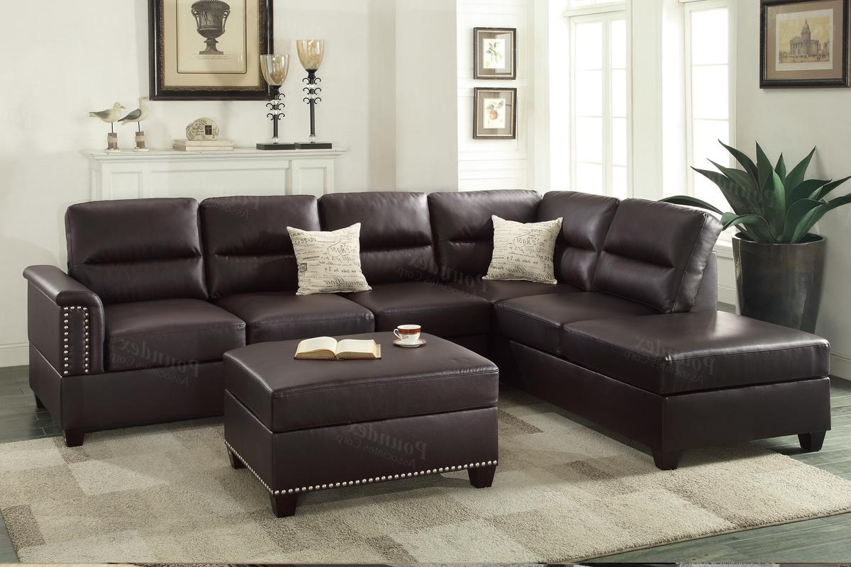 Leather Sectional Sofas Within 2019 Brown Leather Sectional Sofa – Steal A Sofa Furniture Outlet Los (View 10 of 20)