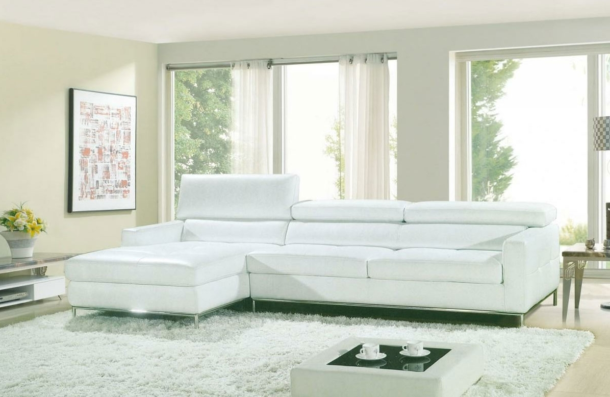 Leather Sectionals Intended For White Sectional Sofas (View 8 of 20)