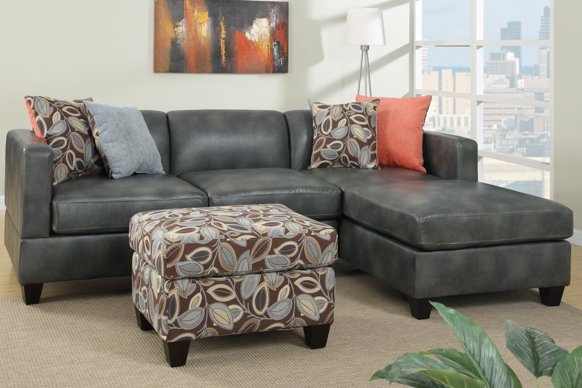 Leather Sectionals With Chaise And Ottoman Within Popular Sectional Sofa Design: Wonderful Grey Sectional Sofa With Chaise (View 7 of 20)