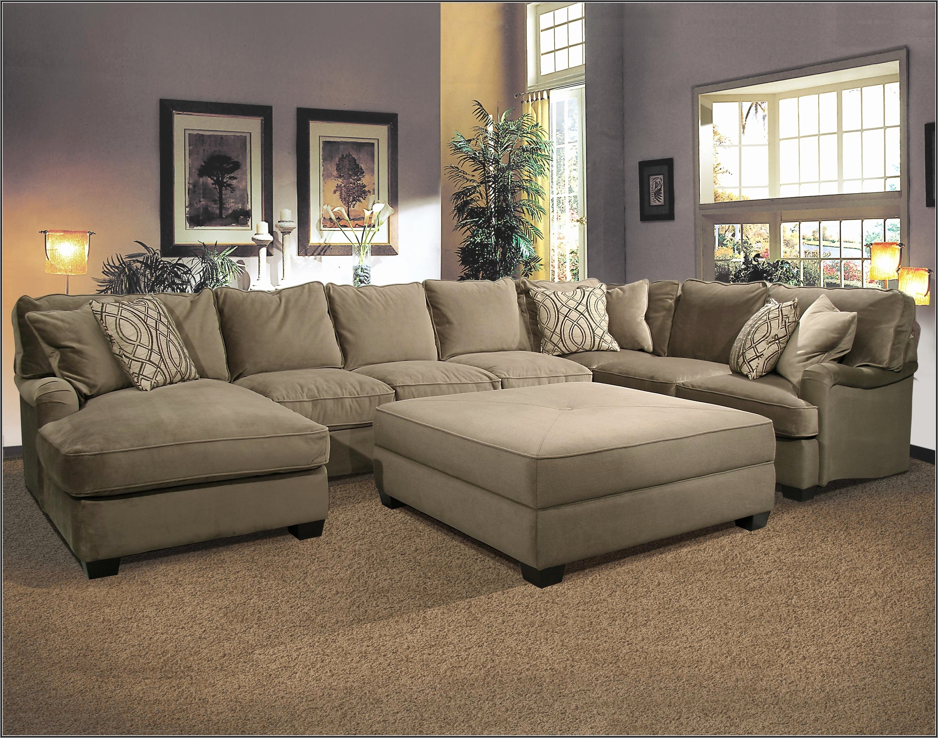 Leather Sectionals With Ottoman For Preferred Beautiful U Sectional Sofa 2018 – Couches Ideas (View 11 of 20)