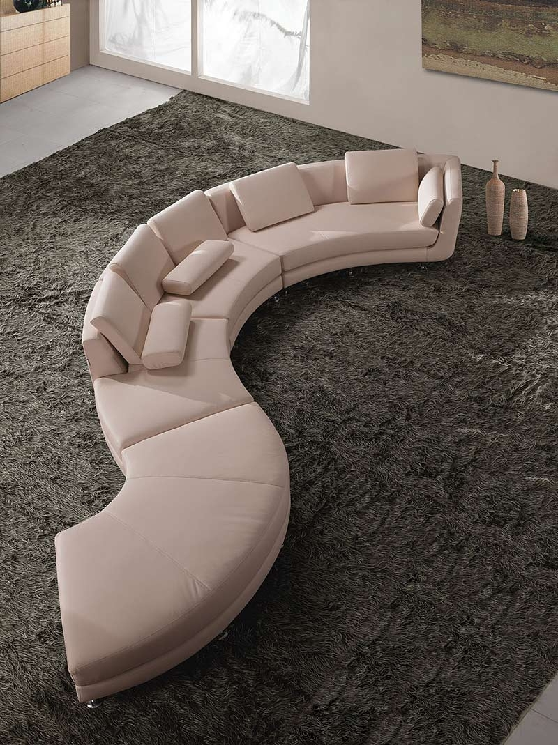 Leather Sectionals Within Round Sofas (View 18 of 20)