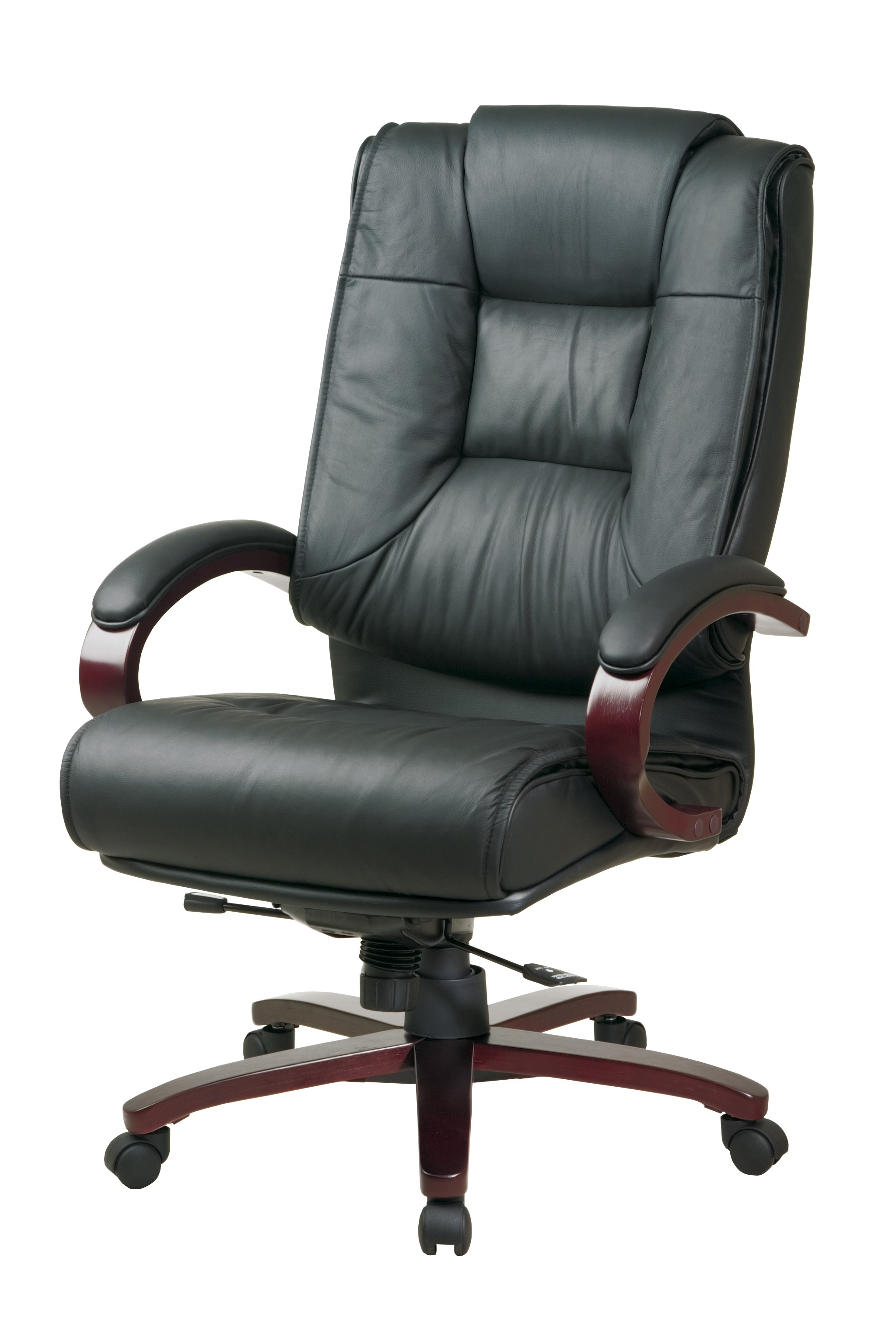 Leather Wood Executive Office Chairs Regarding Best And Newest Office: Office Chairs Ideas With Black Leather Executive Chair (View 8 of 20)