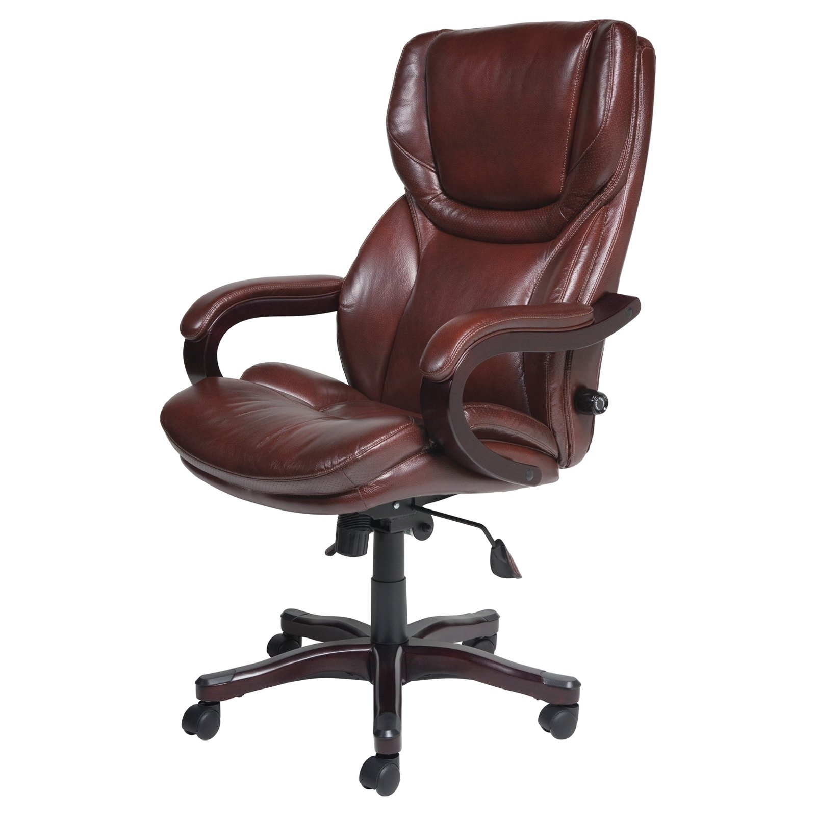 Leather Wood Executive Office Chairs Within Popular Chair : Ergonomic Black Leather Executive Office Chair Verona (View 9 of 20)