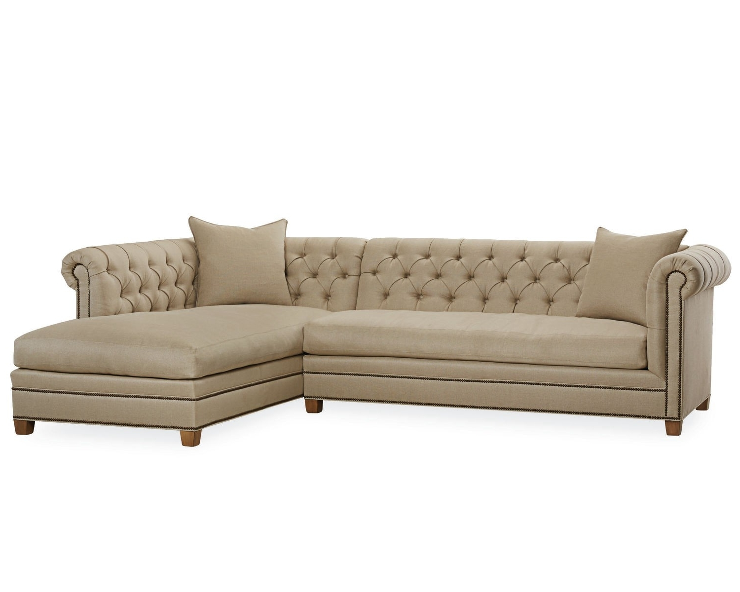 Lee Industries Throughout Sectional Sofas With Nailhead Trim (View 8 of 20)