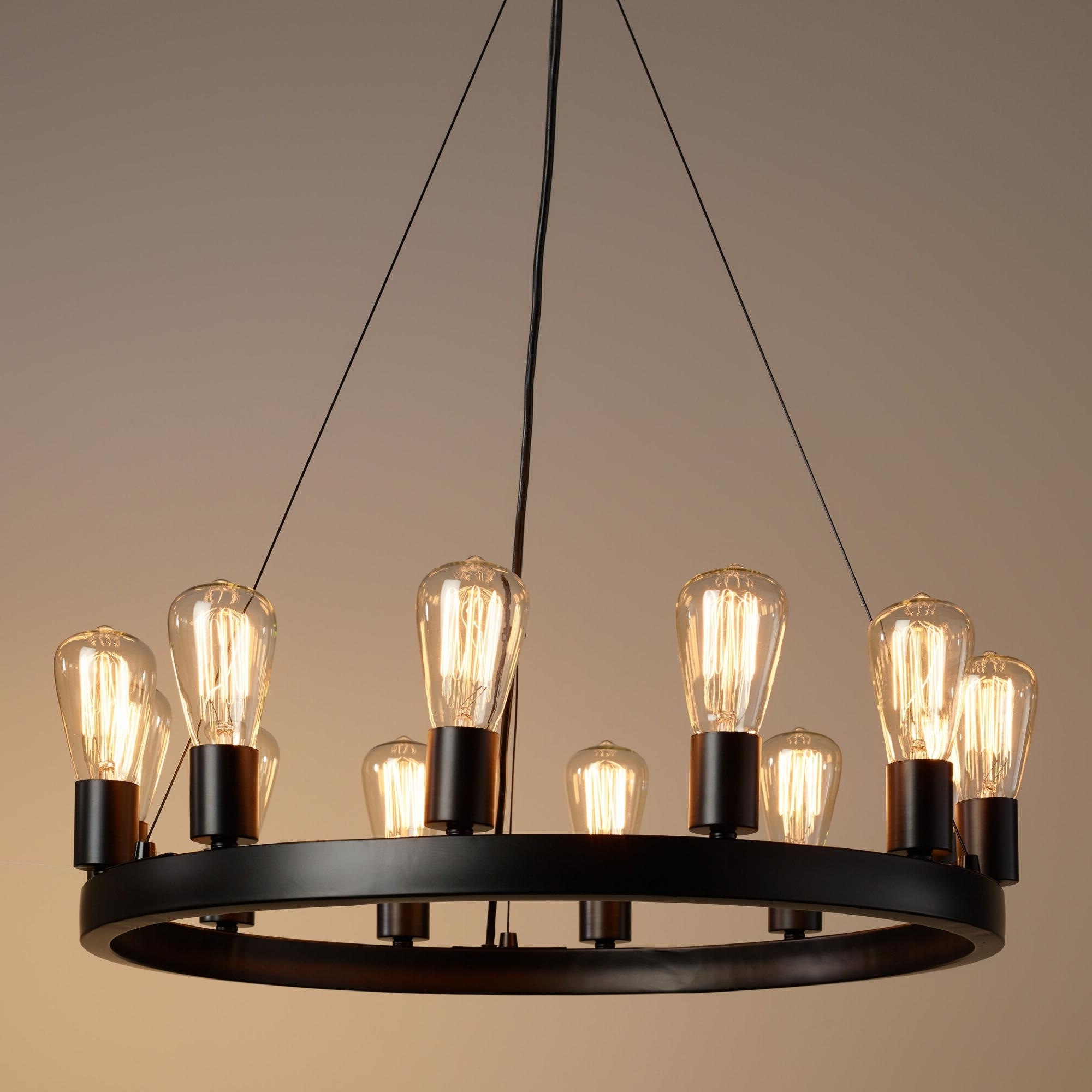 Light : Amazing Round Light Edison Bulb Chandelier With Additional Within Preferred Small Rustic Chandeliers (View 8 of 20)