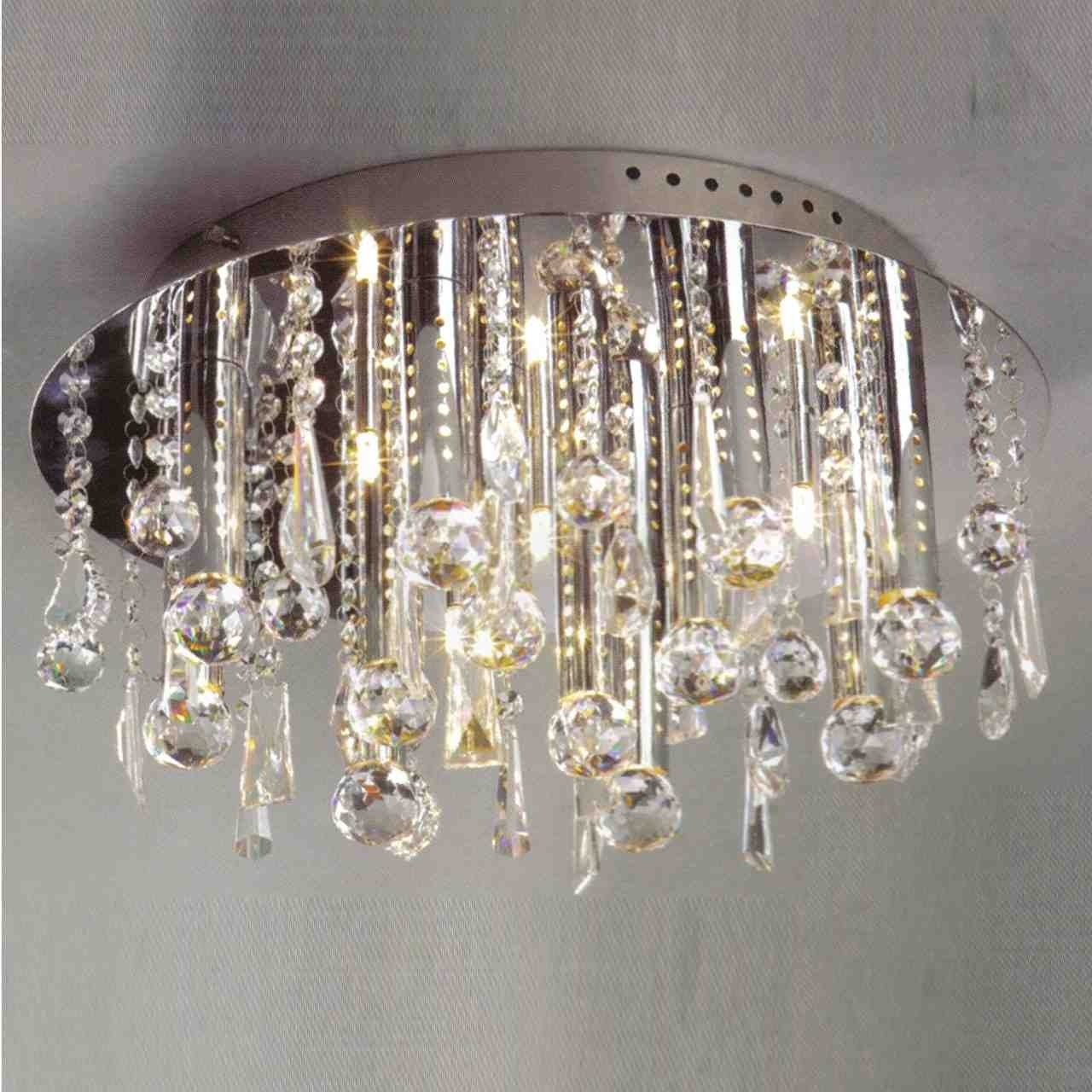Light : Fetching Crystal Flush Mount Lighting Brizzo St Gold Coast With Regard To Preferred Wall Mount Crystal Chandeliers (View 1 of 20)