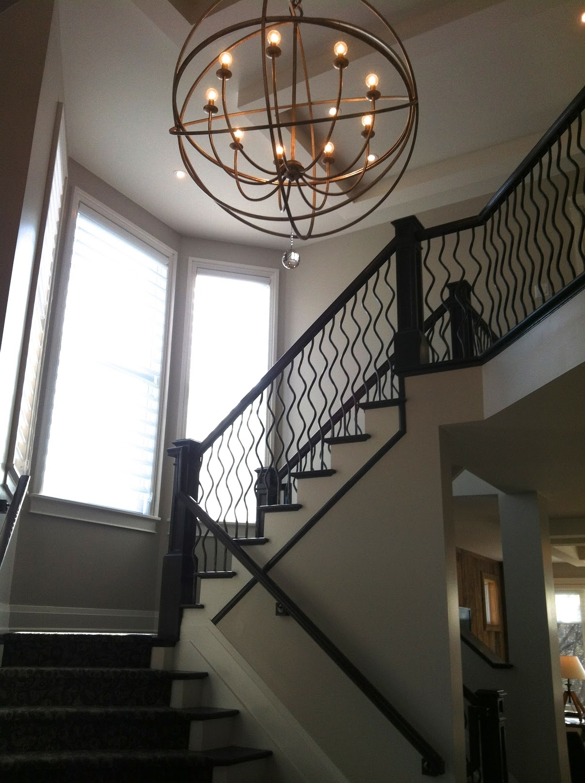 Light Fixture : Foyer Lighting Lowes 2 Story Foyer Chandelier Modern Within Most Popular Staircase Chandeliers (View 11 of 20)
