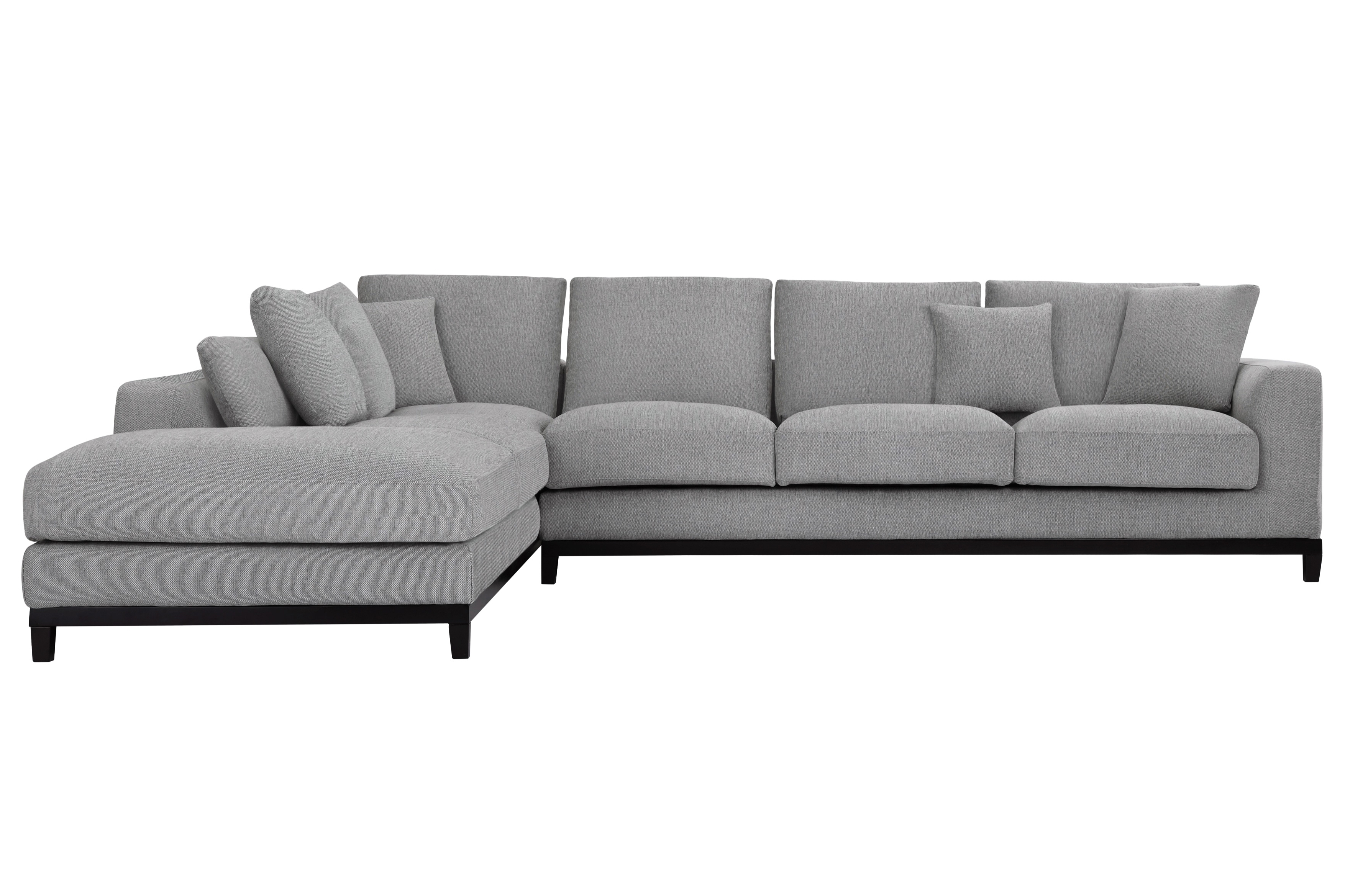 Light Gray Left Sectional Sofa Upholstered Article Burrard Divani With Regard To Most Up To Date Quebec Sectional Sofas (View 16 of 20)