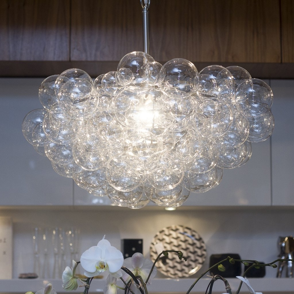 Light : Lighting Floating Bubble Chandelier With Wall Mount Kitchen Within Most Up To Date Wall Mounted Chandelier Lighting (View 12 of 20)