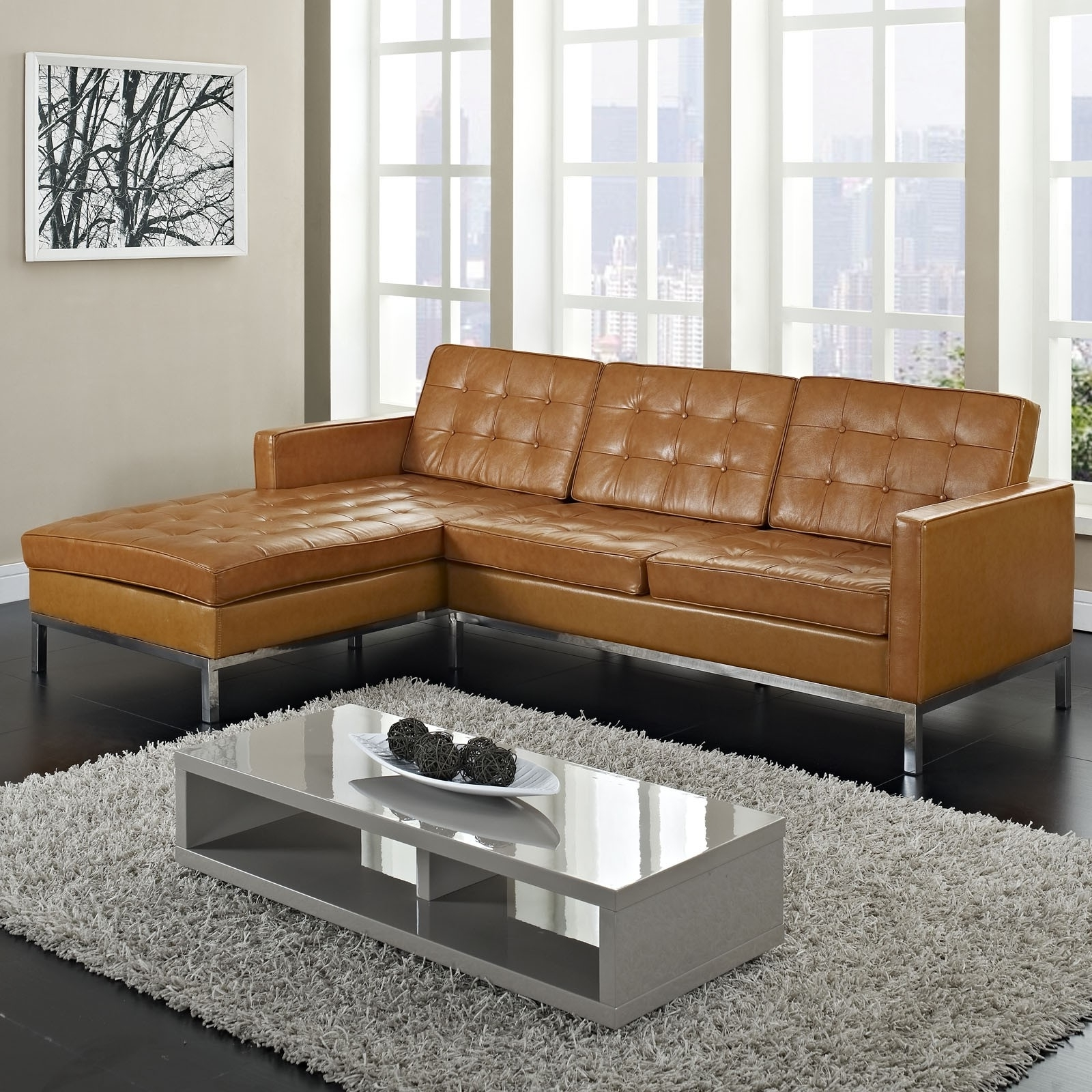 Light Tan Leather Sofa – Home Design Ideas And Pictures Inside Most Recent Light Tan Leather Sofas (View 8 of 20)