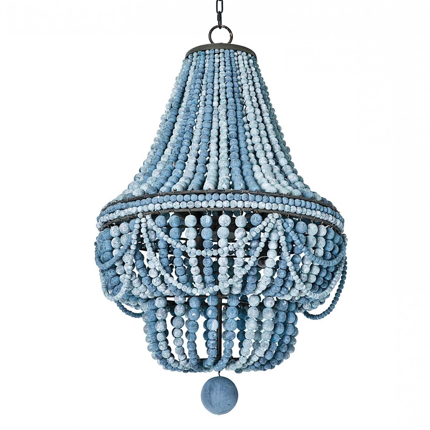 Lighting ~ Chandeliers ~ Turquoise Beaded Chandelier Light Fixture Inside Well Liked Turquoise Wood Bead Chandeliers (View 9 of 20)
