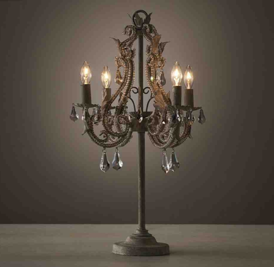 Lighting : Table Chandelier Lamp Bedroom Lamps Contemporary Pertaining To 2019 Table Chandeliers (View 20 of 20)