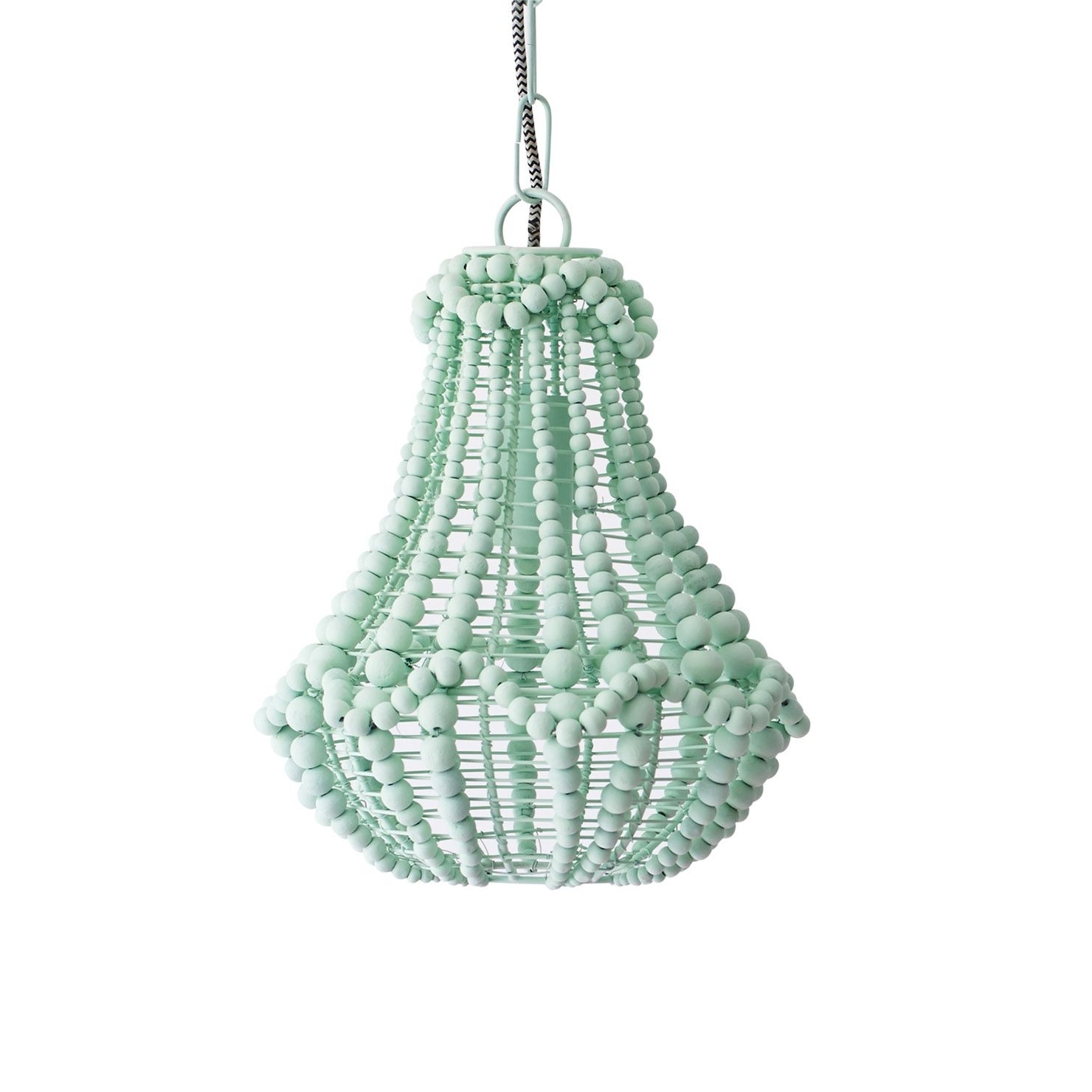 Lighting With Regard To Well Known Turquoise Wood Bead Chandeliers (View 11 of 20)
