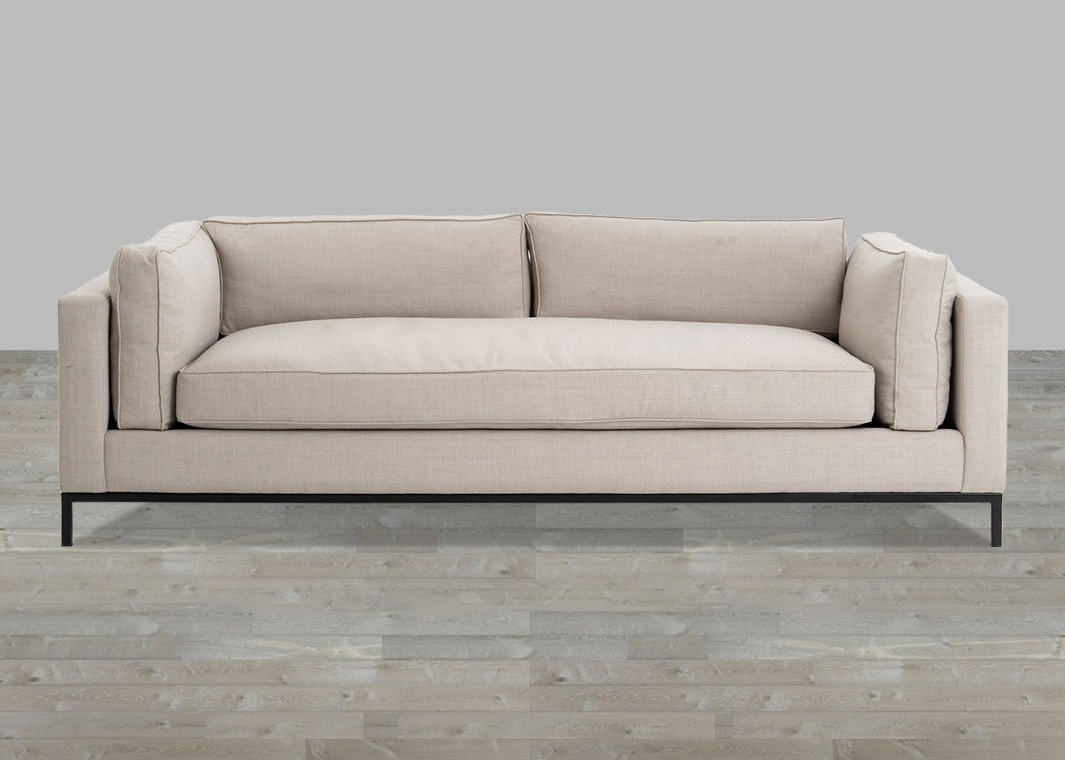 Linen Sofa With Single Seat Cushion Throughout Most Recent Single Sofas (View 4 of 20)