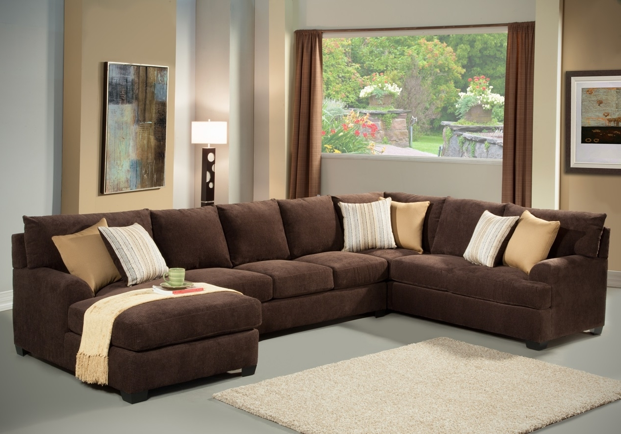 Living Room: Handsome Living Room Decoration Using U Shape Dark With Regard To Current Big U Shaped Couches (View 10 of 20)